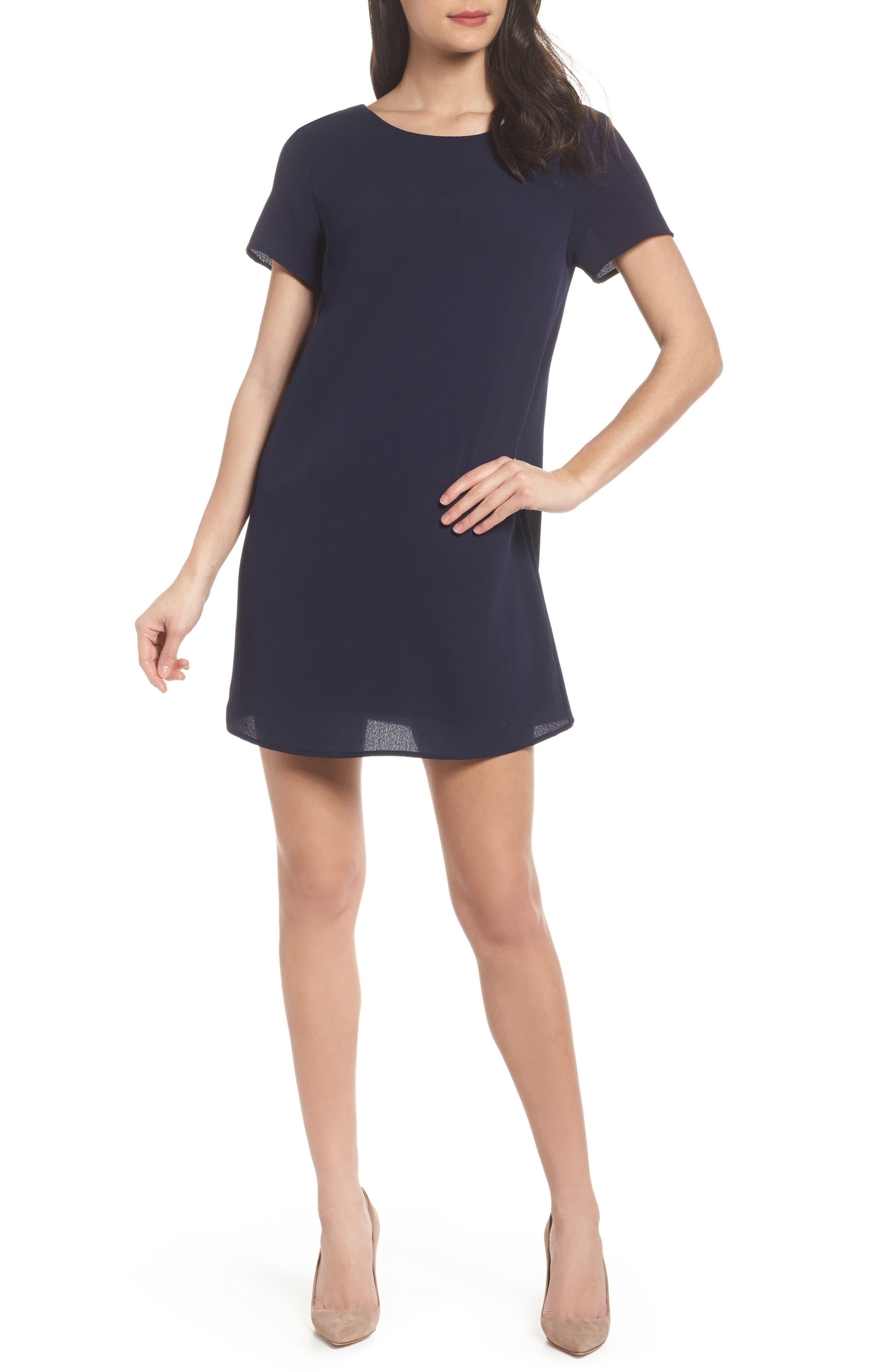 V-Back Shift Dress,                         Main,                         color, 410