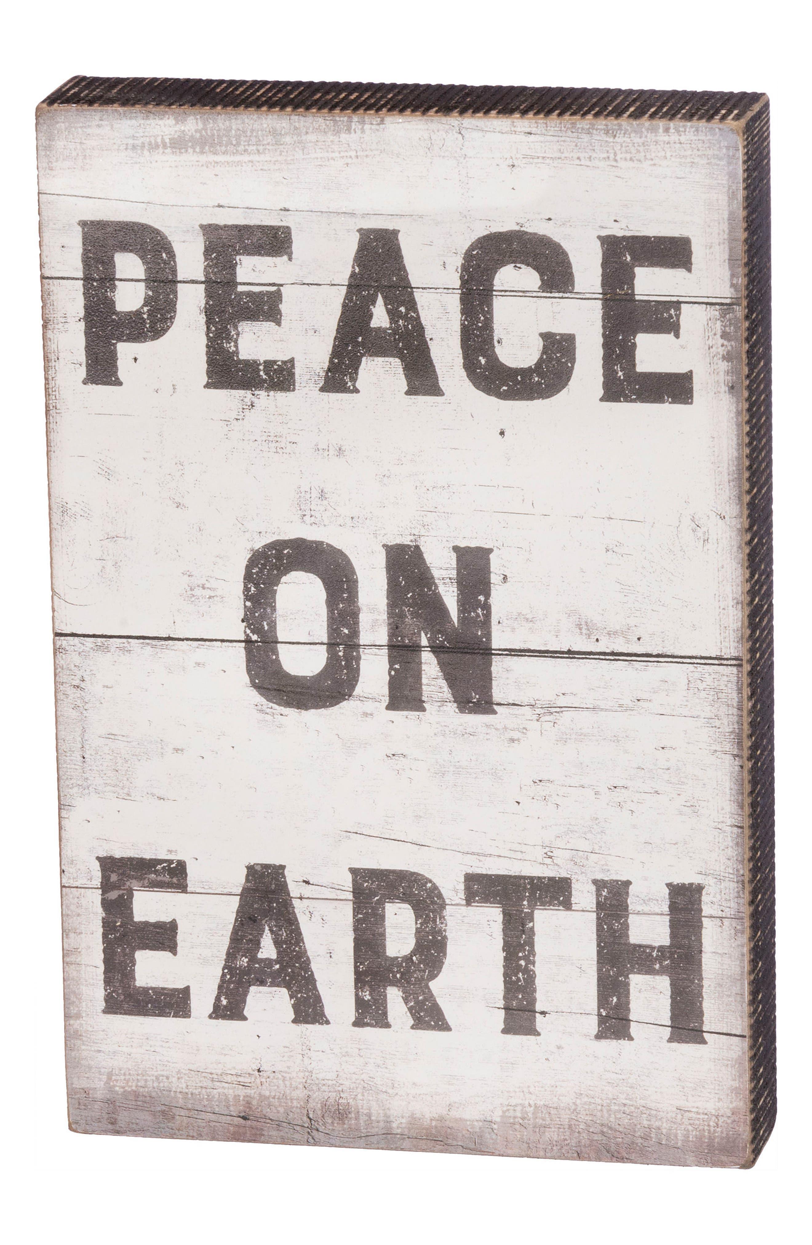 Peace on Earth Box Sign,                             Main thumbnail 1, color,                             001