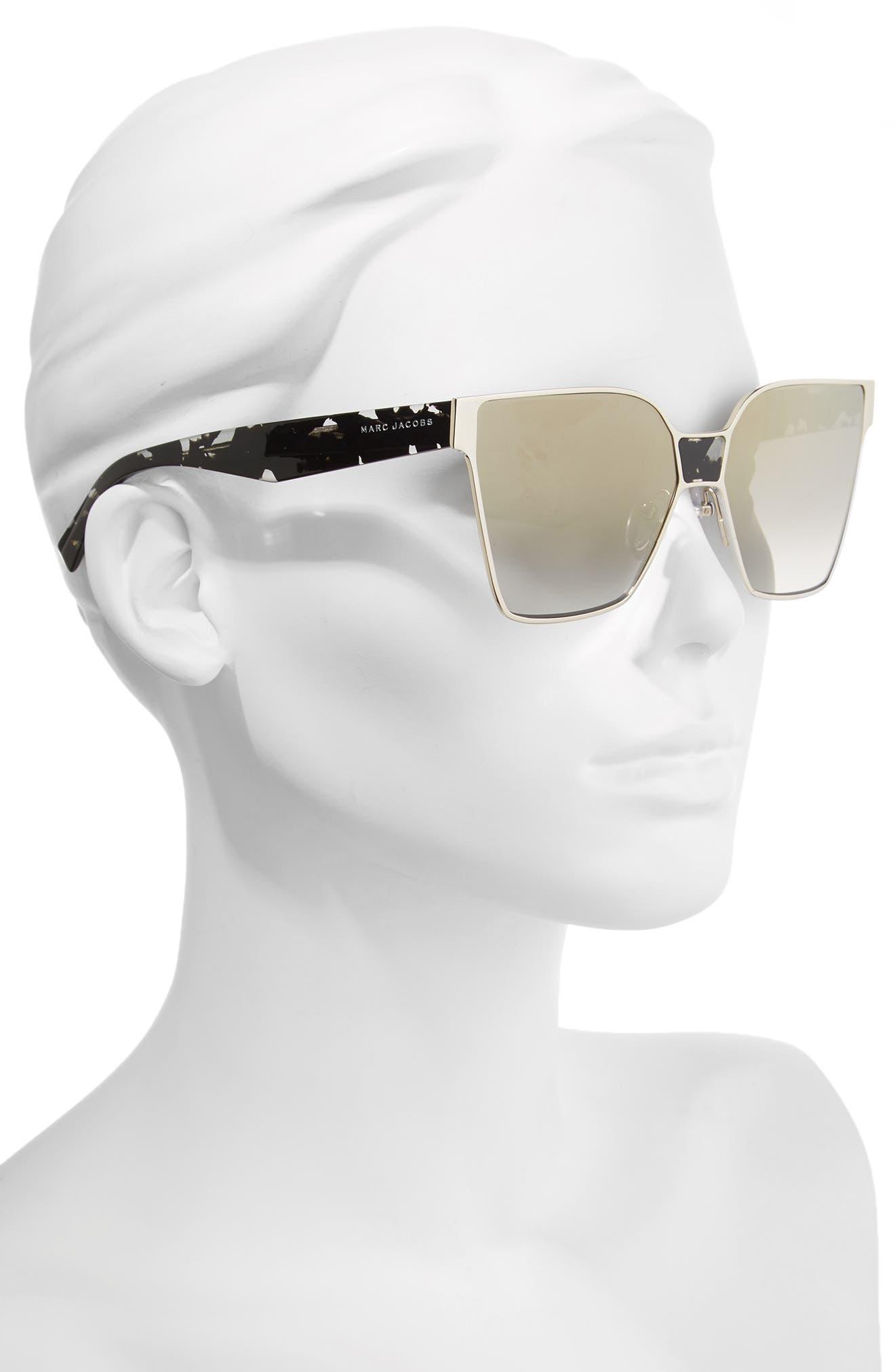 60mm Square Sunglasses,                             Alternate thumbnail 8, color,