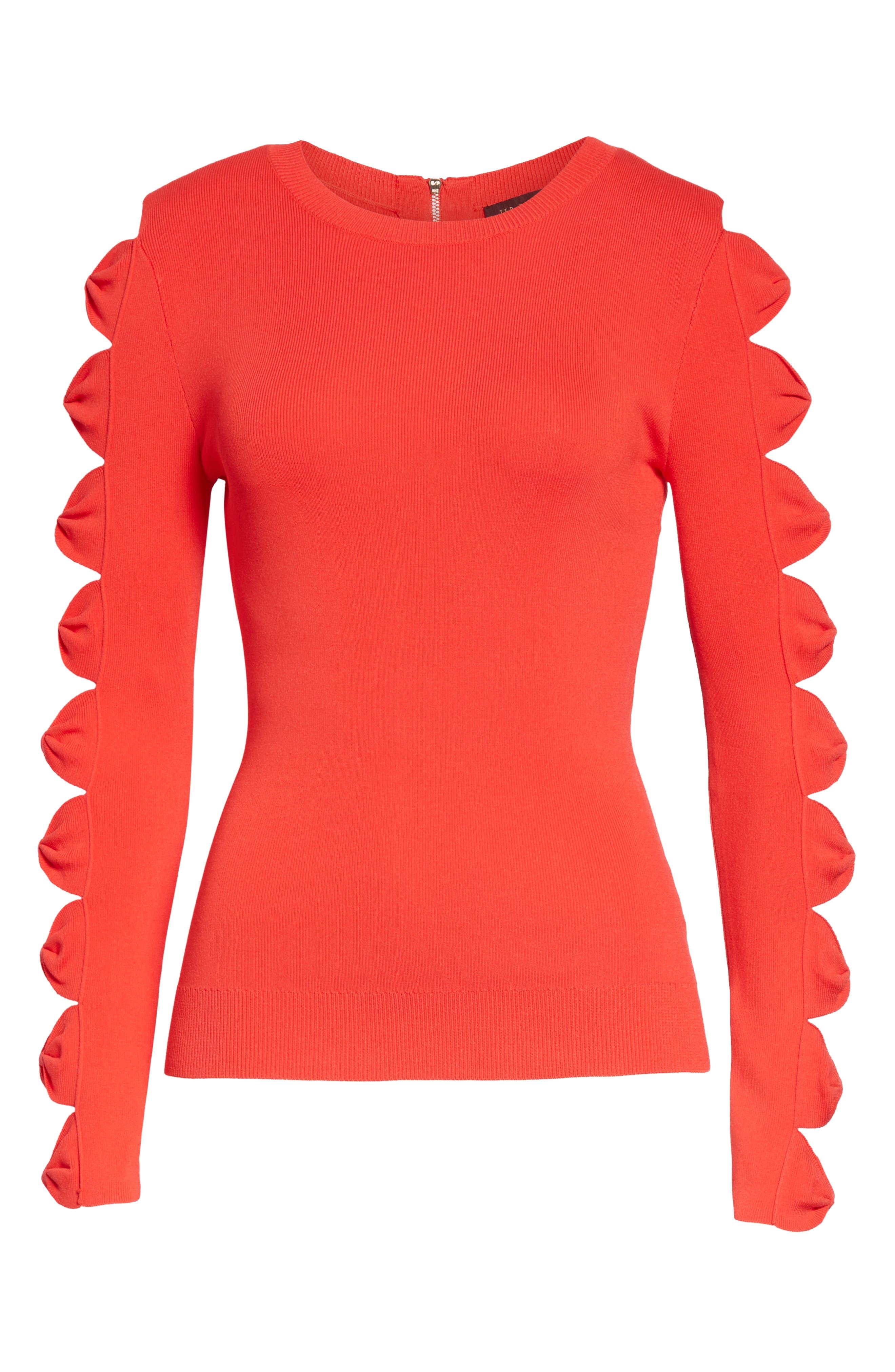 Yonoh Cutout Sleeve Sweater,                             Alternate thumbnail 6, color,                             600