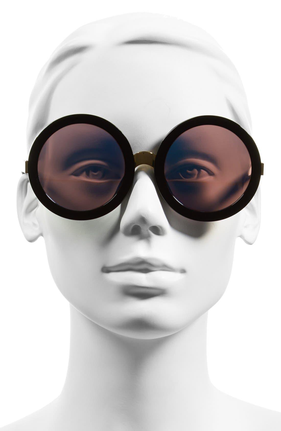 'Malibu Deluxe' 55mm Retro Sunglasses,                             Alternate thumbnail 2, color,                             BLACK