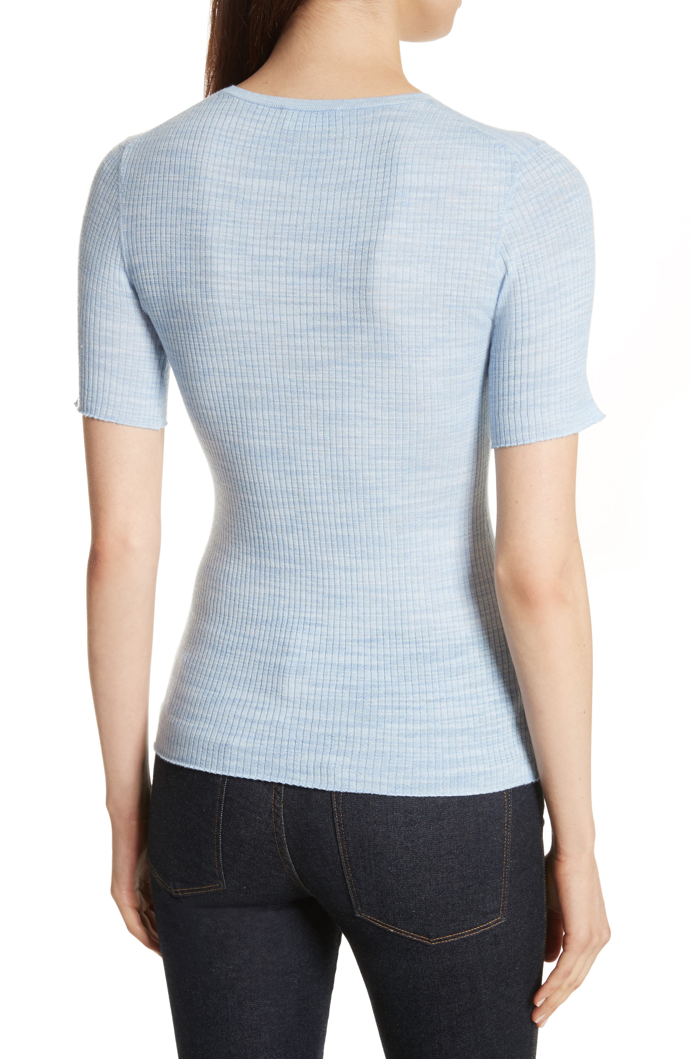 Fitted Merino Wool Blend Sweater,                             Alternate thumbnail 2, color,                             430