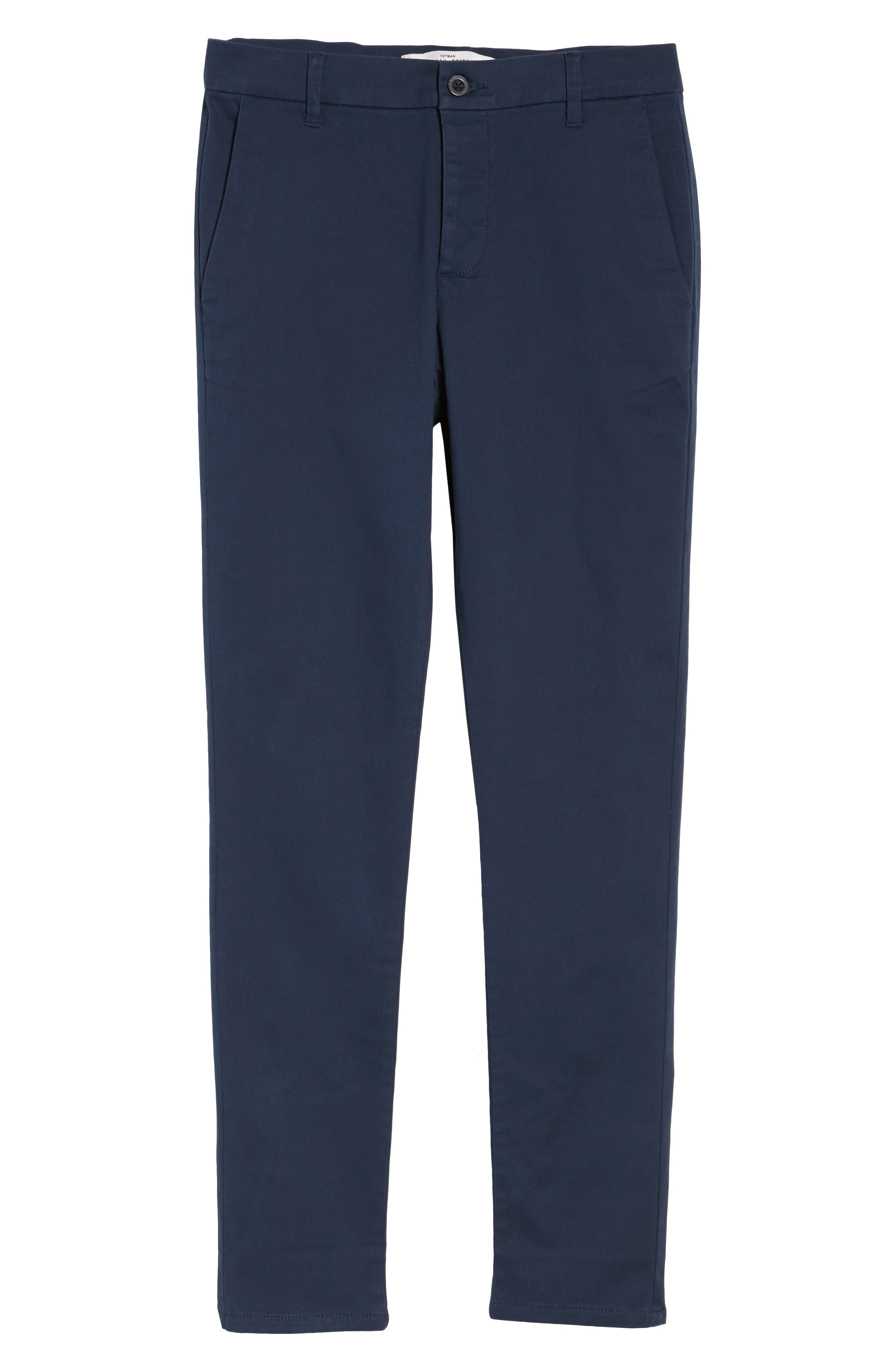 Stretch Skinny Fit Chinos,                             Alternate thumbnail 2, color,                             DARK BLUE