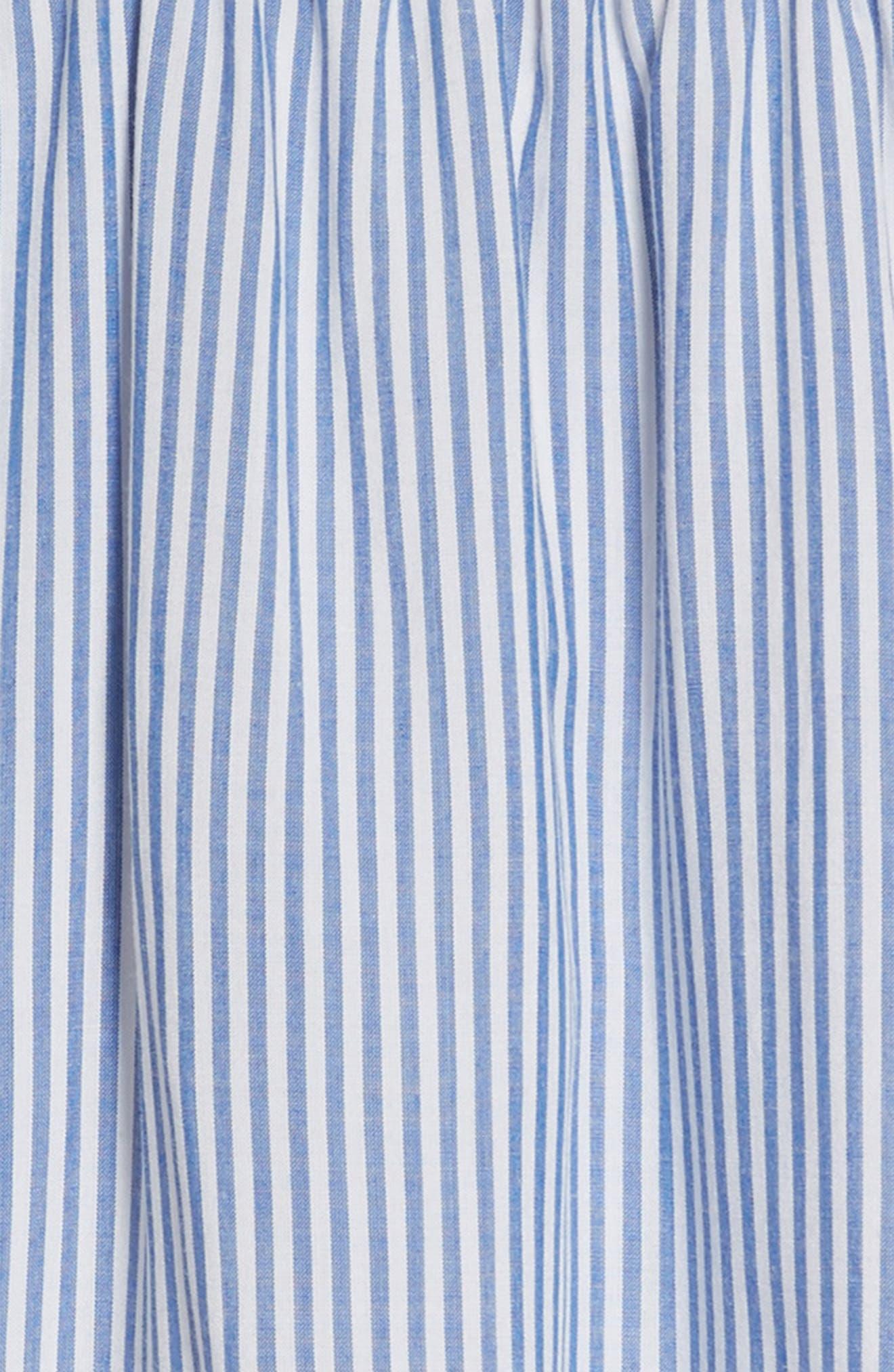 Poplin Stripe Ruffle Dress,                             Alternate thumbnail 3, color,                             400