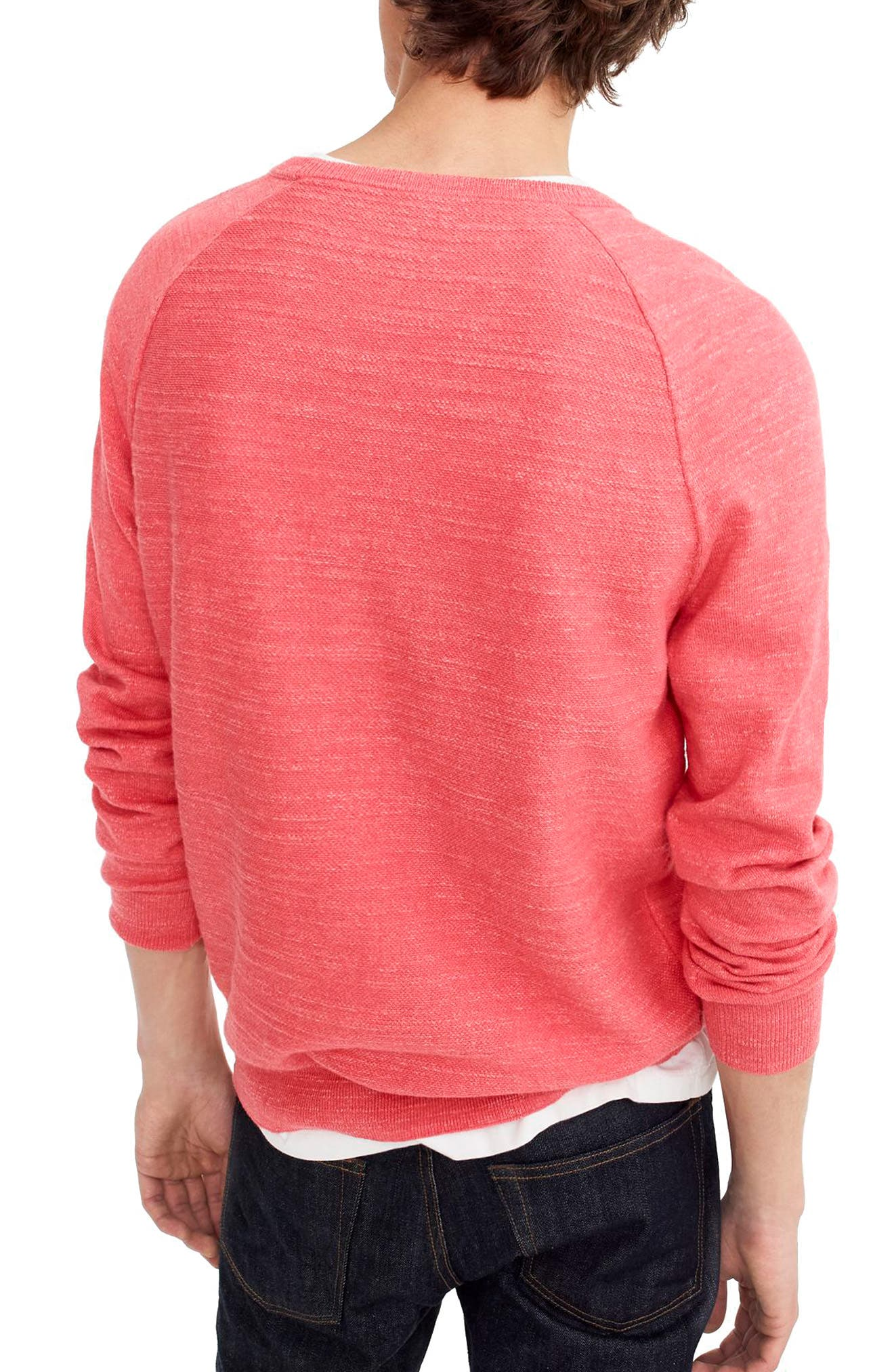 Slim Rugged Cotton Sweater,                             Alternate thumbnail 7, color,