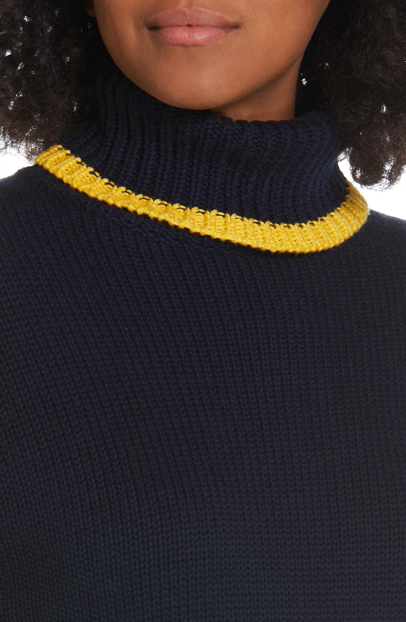 Double Stripe Sweater,                             Alternate thumbnail 4, color,                             NAVY/ RED/ GOLD