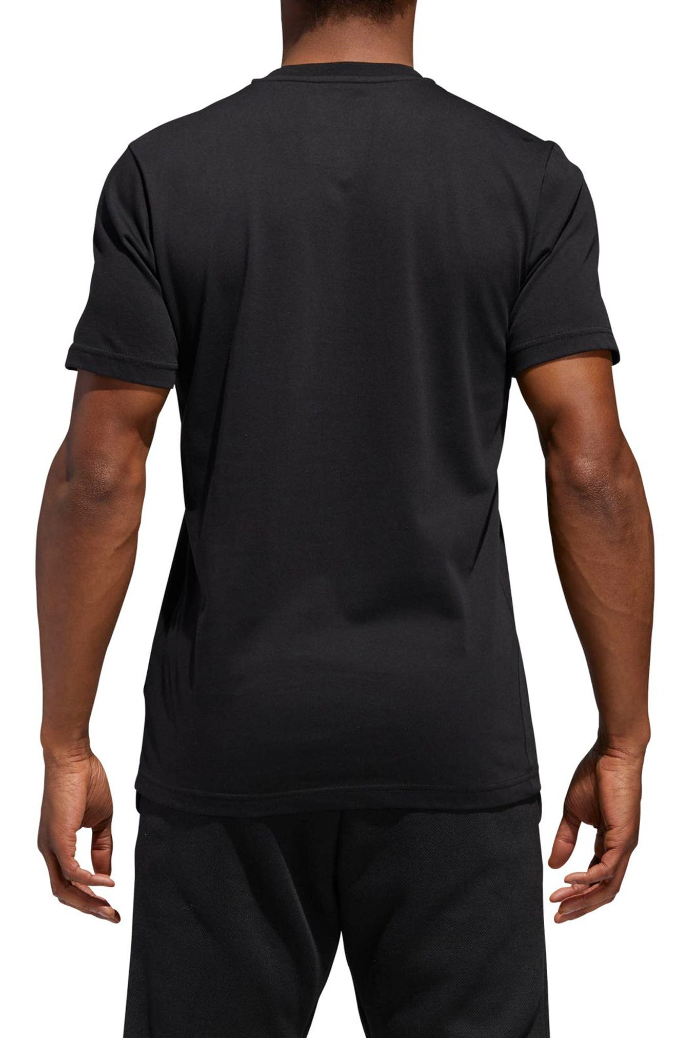 Harden Logo T-Shirt,                             Alternate thumbnail 2, color,                             BLACK