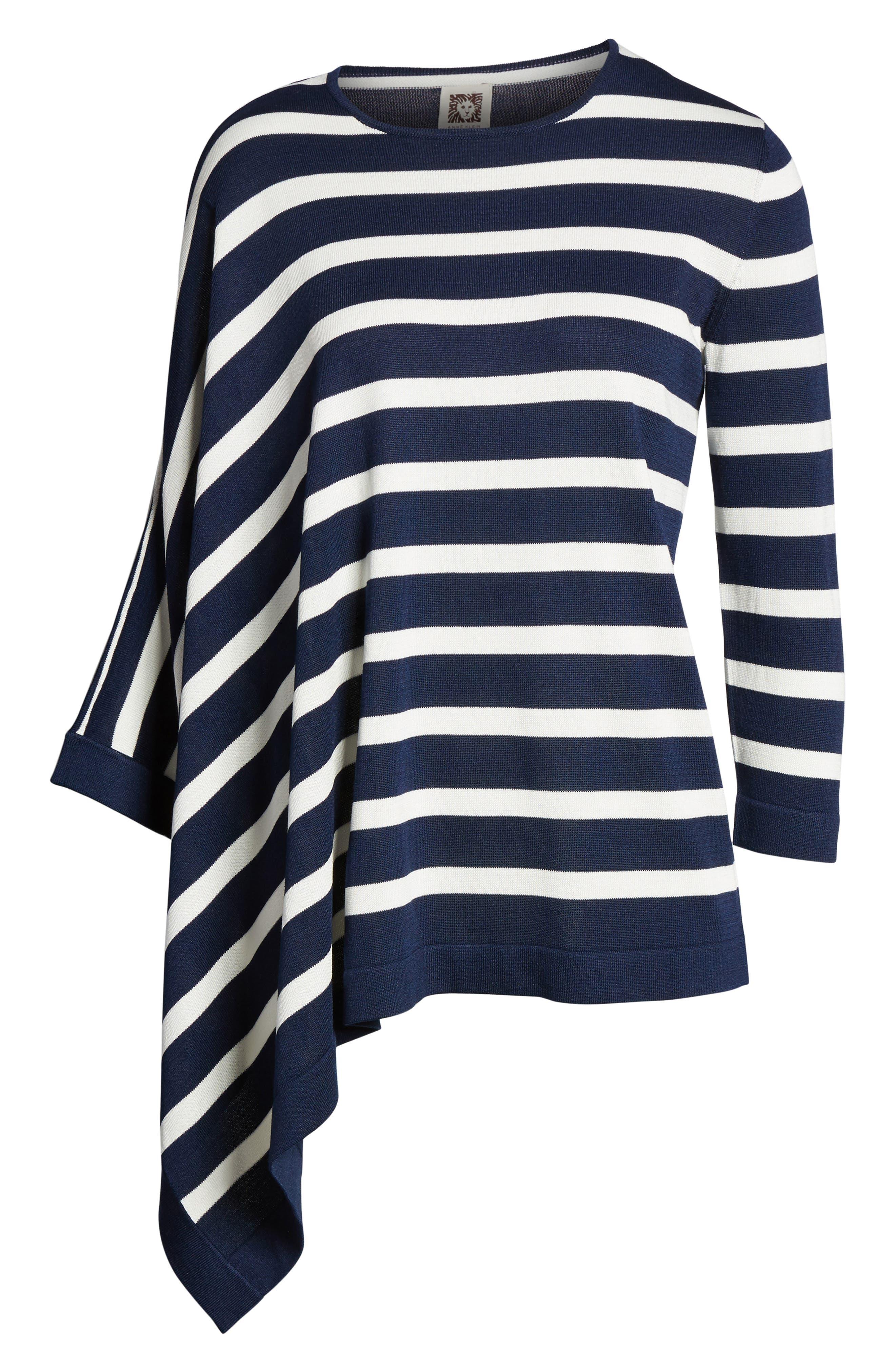 Asymmetrical Striped Sweater,                             Alternate thumbnail 13, color,