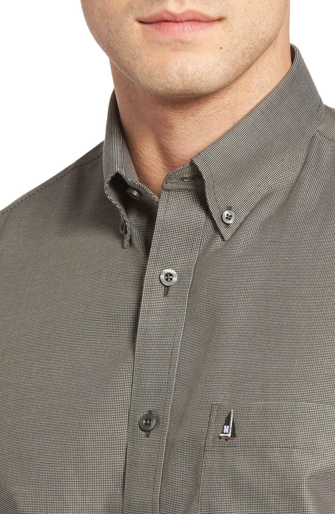 'Classic' Smartcare<sup>™</sup> Regular Fit Short Sleeve Cotton Sport Shirt,                             Alternate thumbnail 67, color,