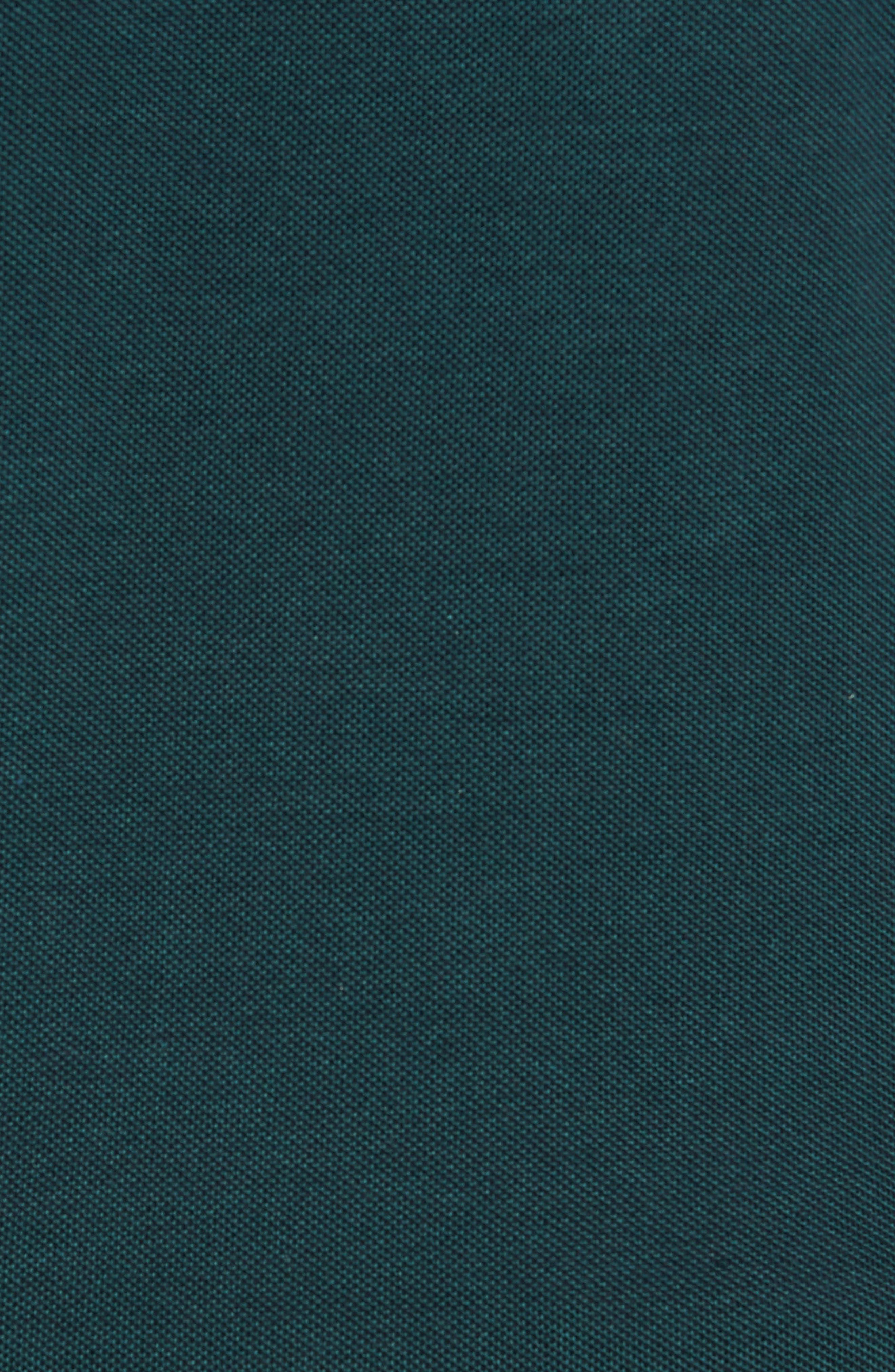 Slim Fit Long Sleeve Piqué Polo,                             Alternate thumbnail 5, color,                             ACONITE/ DARK NAVY BLUE