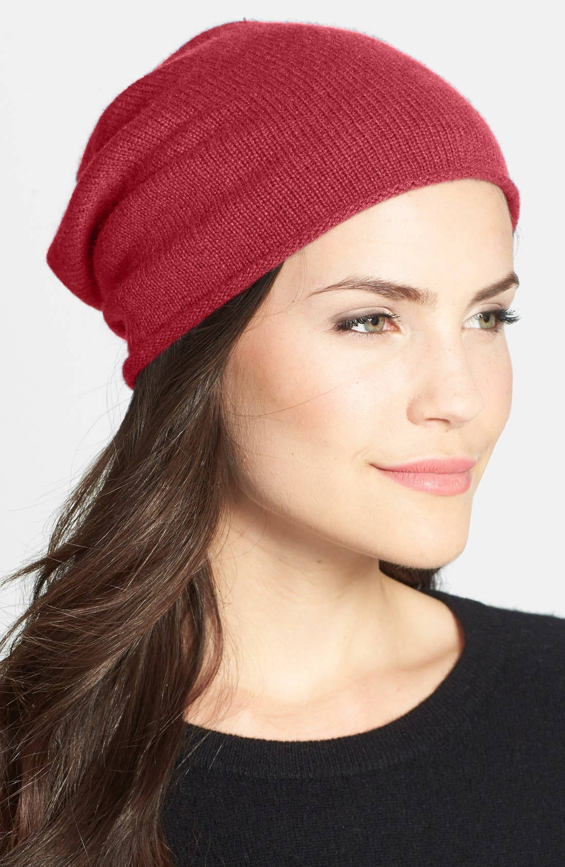Slouchy Cashmere Beanie,                             Main thumbnail 17, color,