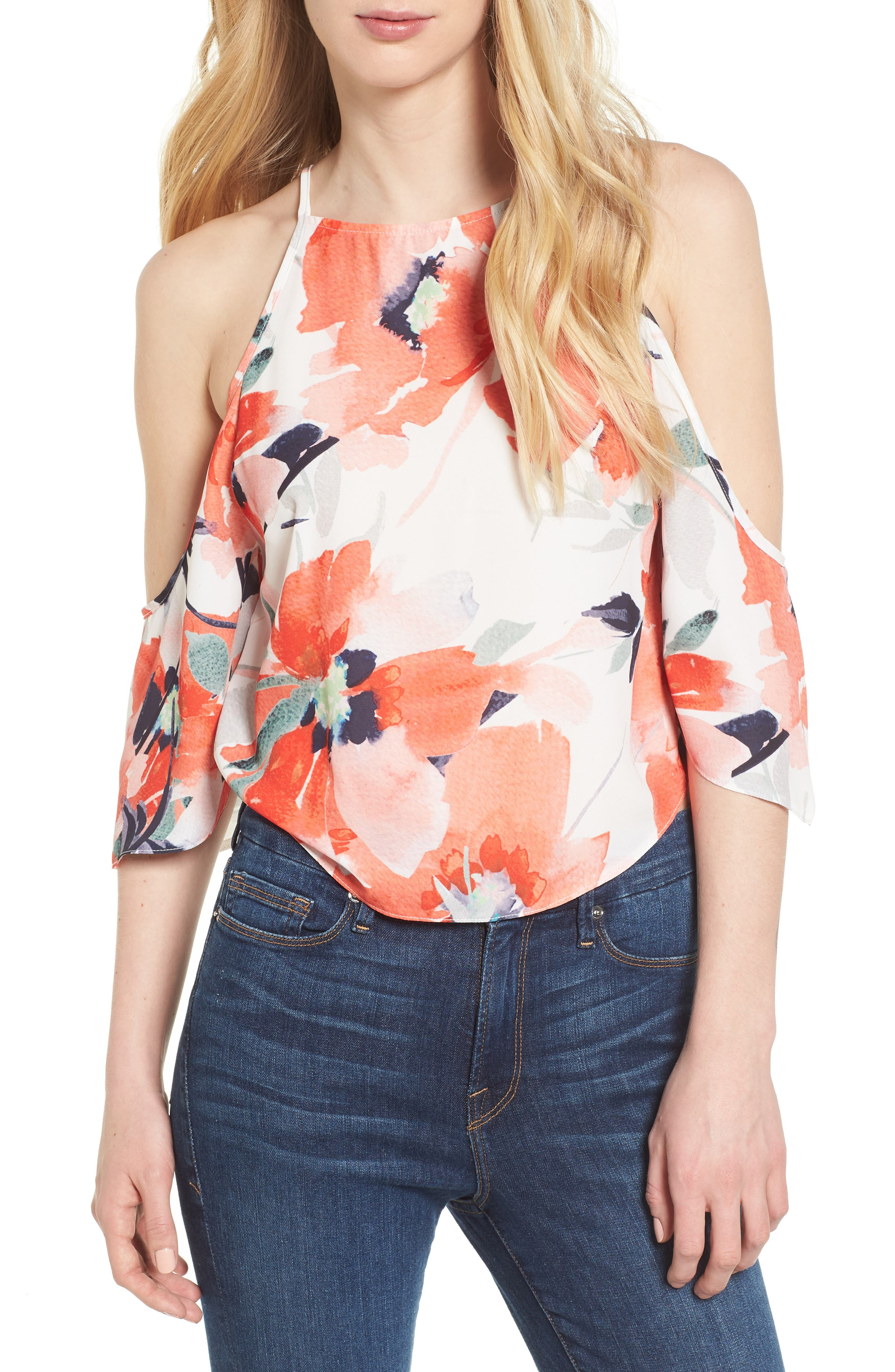 Bishop + Young Ava Cold Shoulder Top,                         Main,                         color,