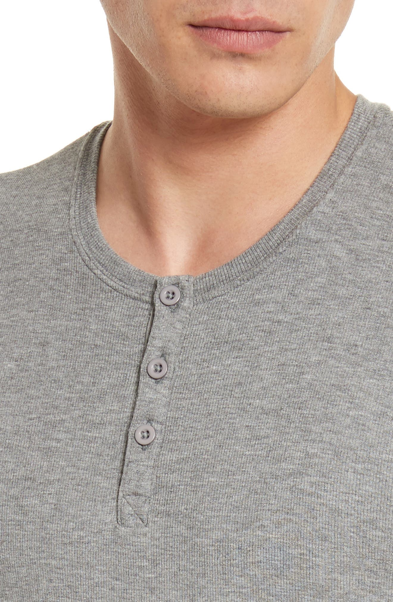 Long Sleeve Rib Henley,                             Alternate thumbnail 4, color,                             050