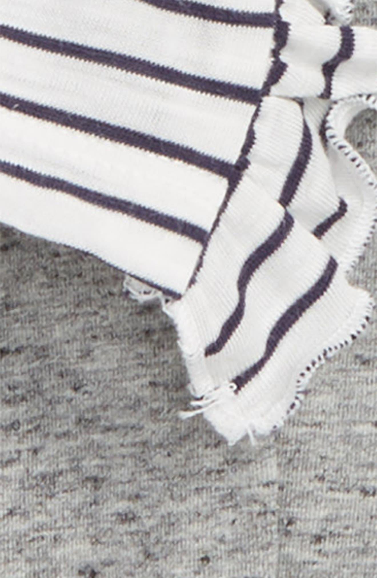 Stripe Tee & Leggings Set,                             Alternate thumbnail 2, color,                             OFF WHITE STRIPE