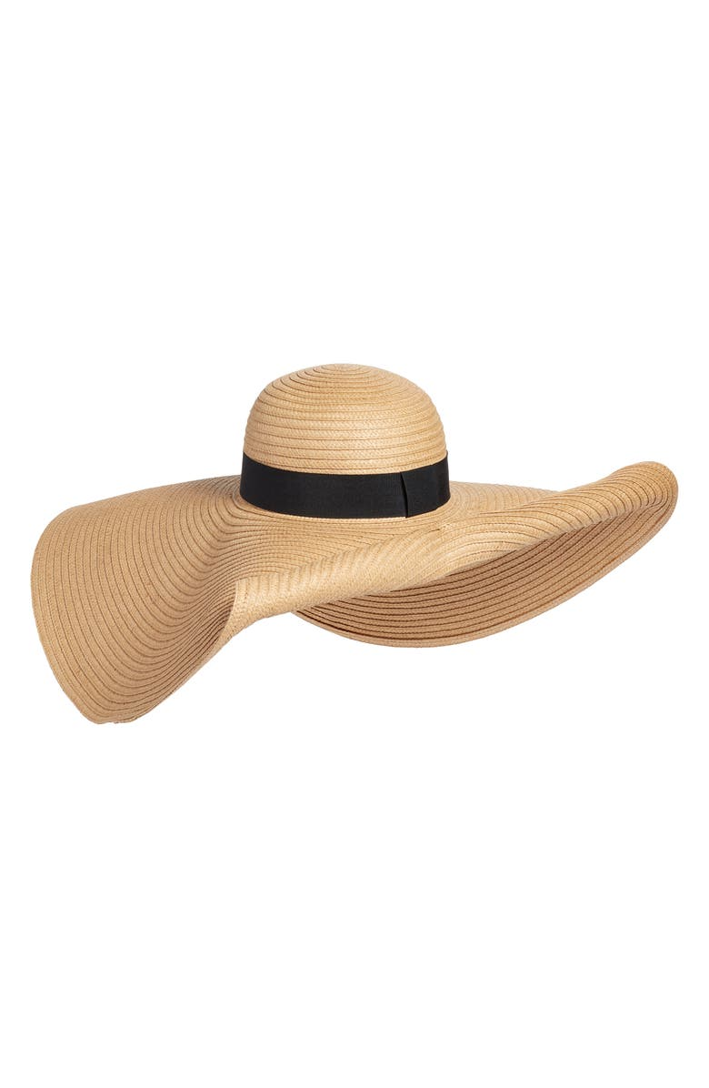 NORDSTROM Super Floppy Straw Hat, Main, color, 238