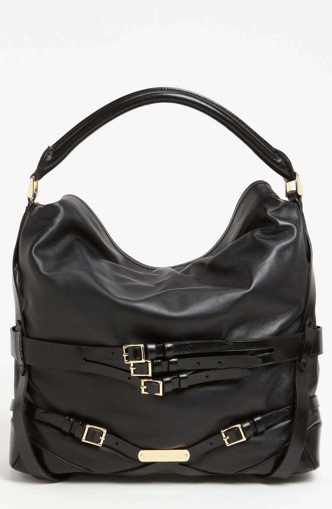'Bridle' Leather Hobo, Main, color, 002