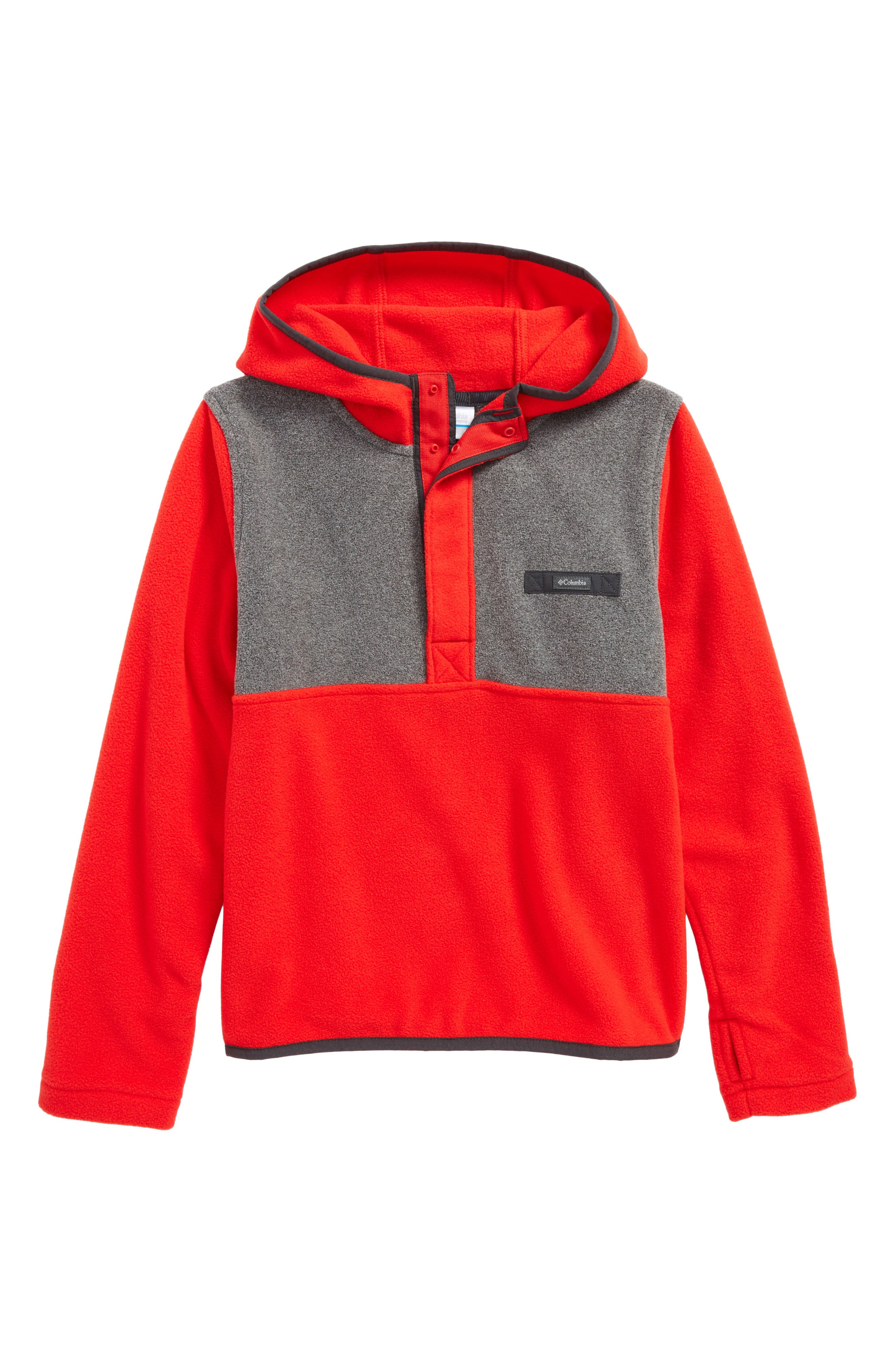 Mountain Side Quarter Zip Pullover Fleece Hoodie,                             Main thumbnail 2, color,