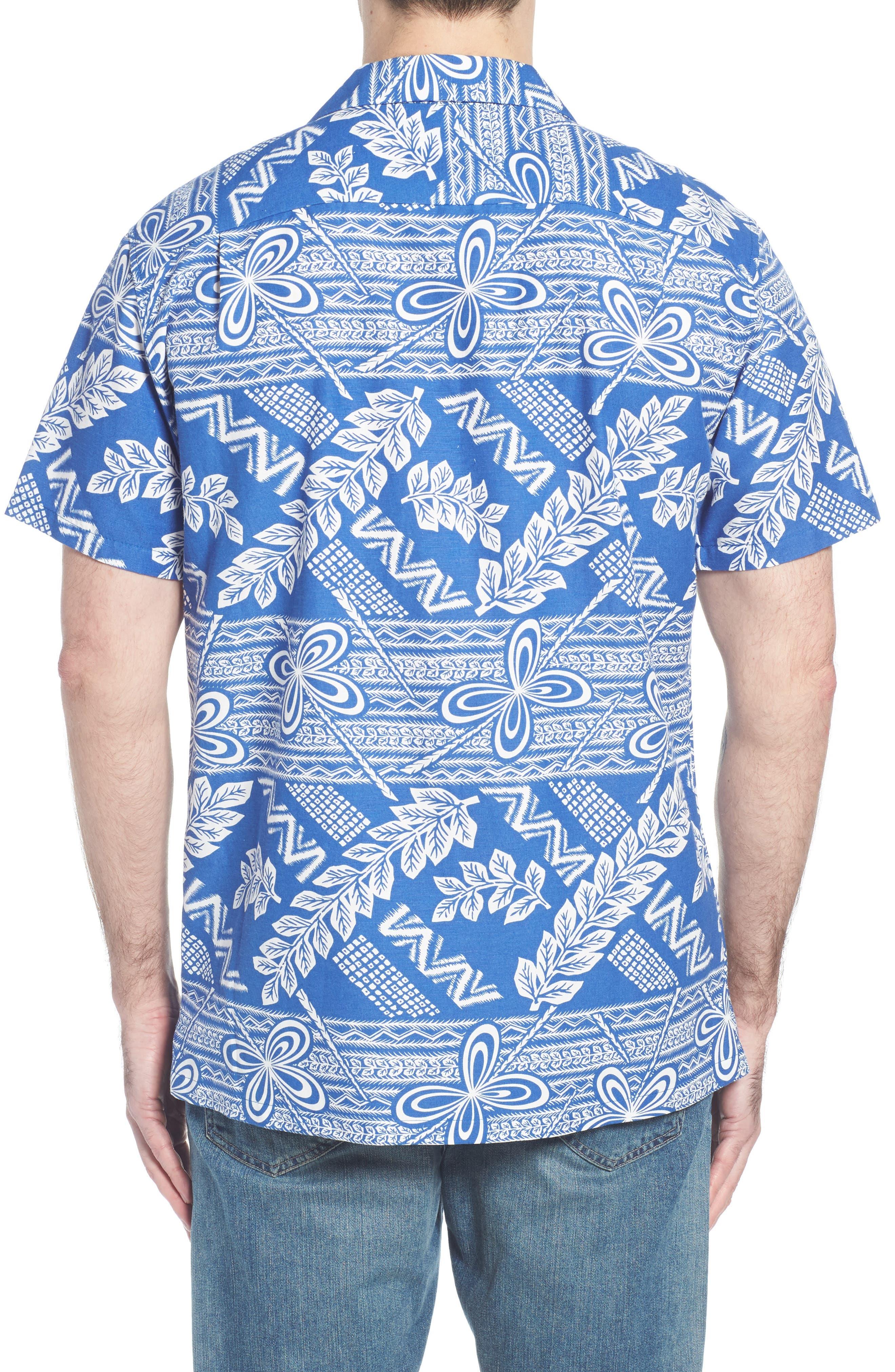 Makana Trim Fit Print Sport Shirt,                             Alternate thumbnail 2, color,                             459