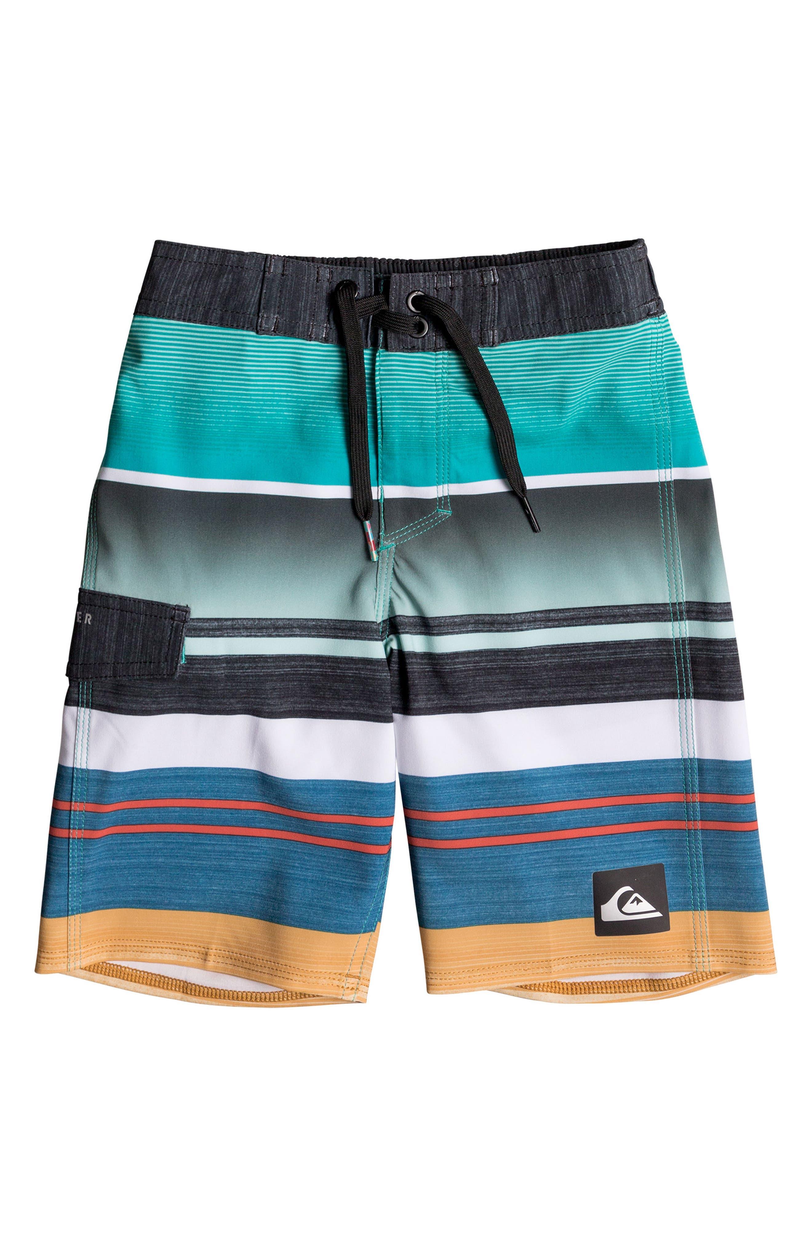 Everyday Stripe Vee Board Shorts,                             Main thumbnail 5, color,