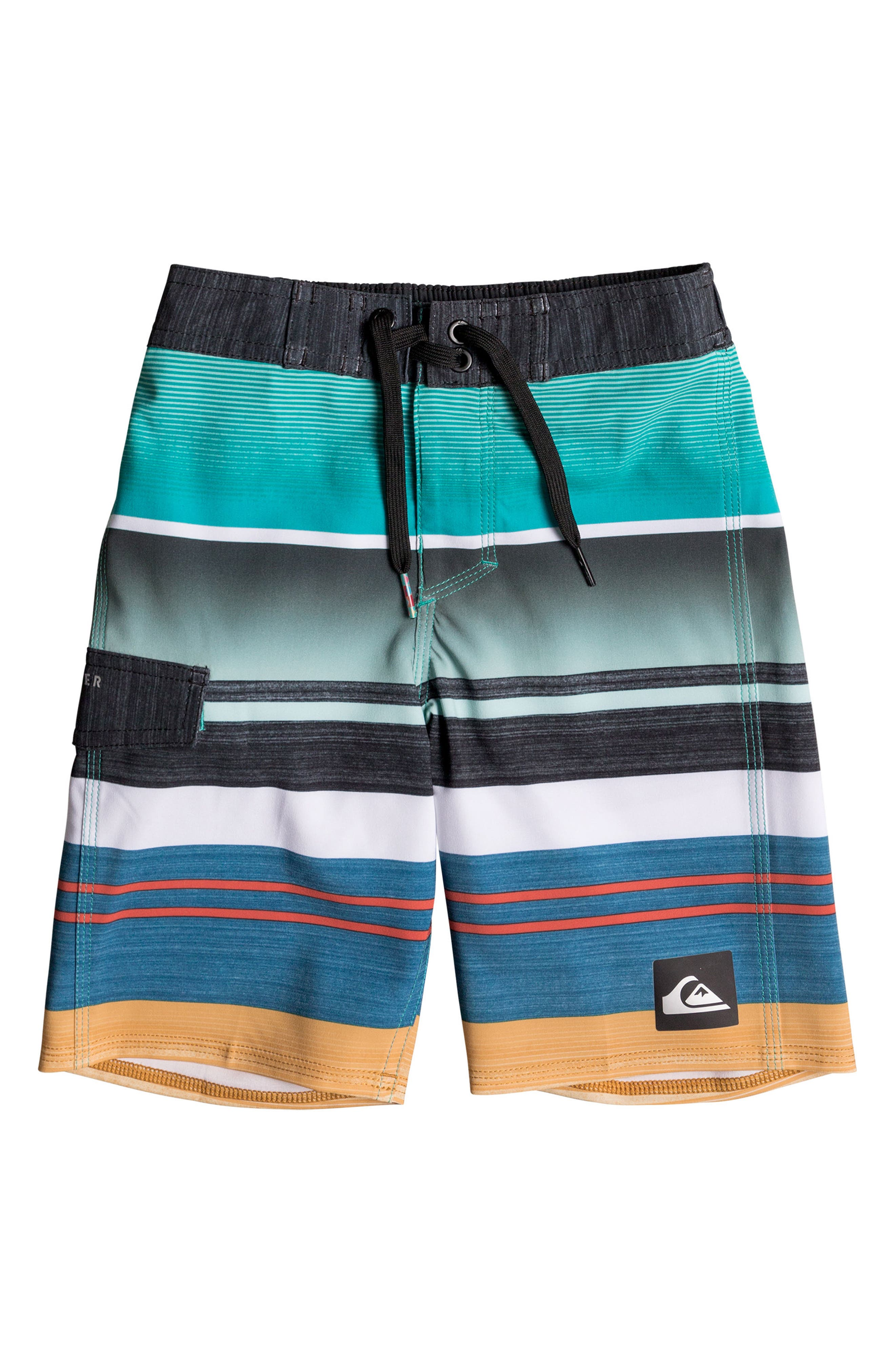 Everyday Stripe Vee Board Shorts,                         Main,                         color, 432