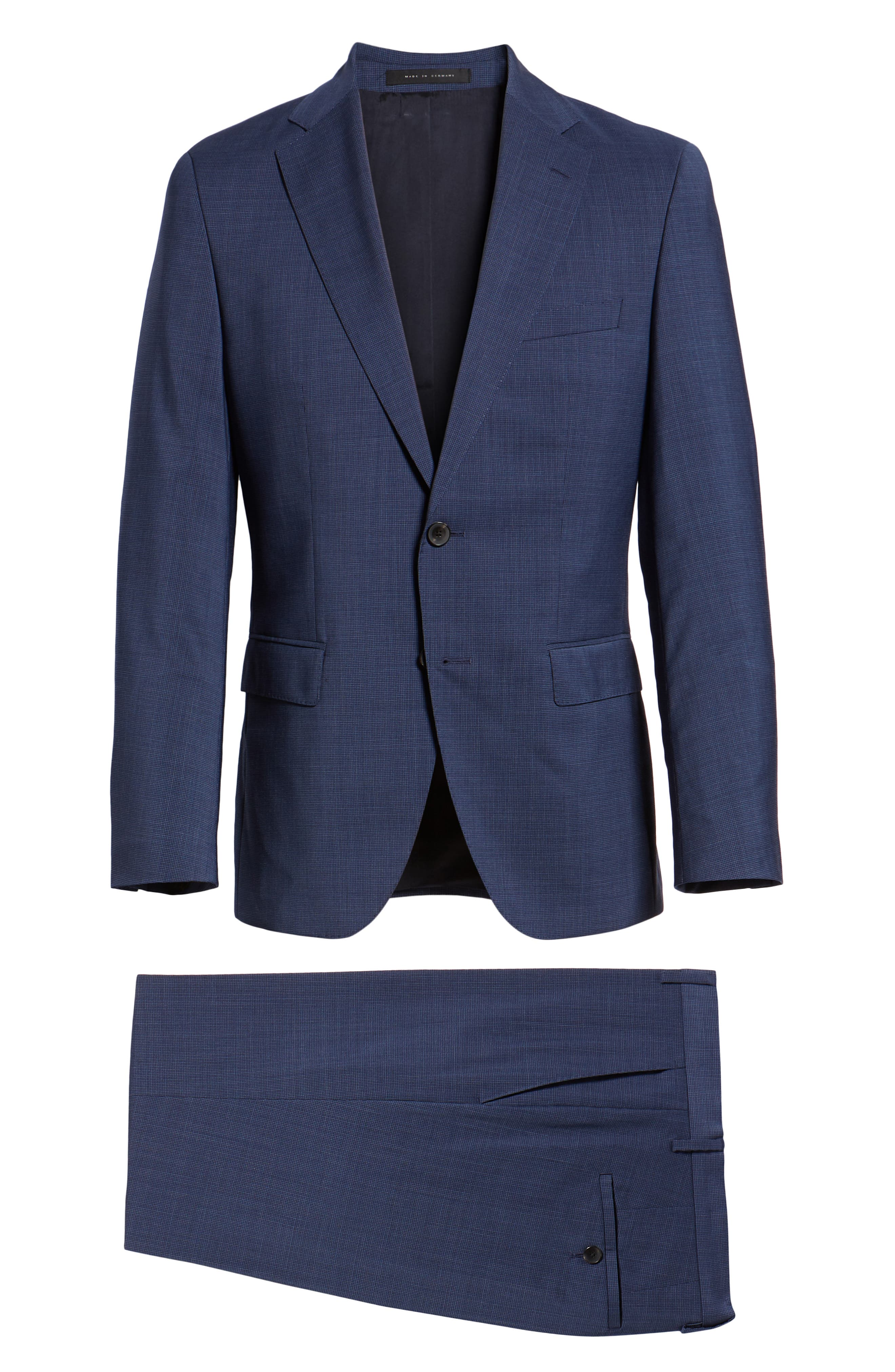 Johnstons/Lenon Classic Fit Houndstooth Wool Suit,                             Alternate thumbnail 10, color,                             BLUE