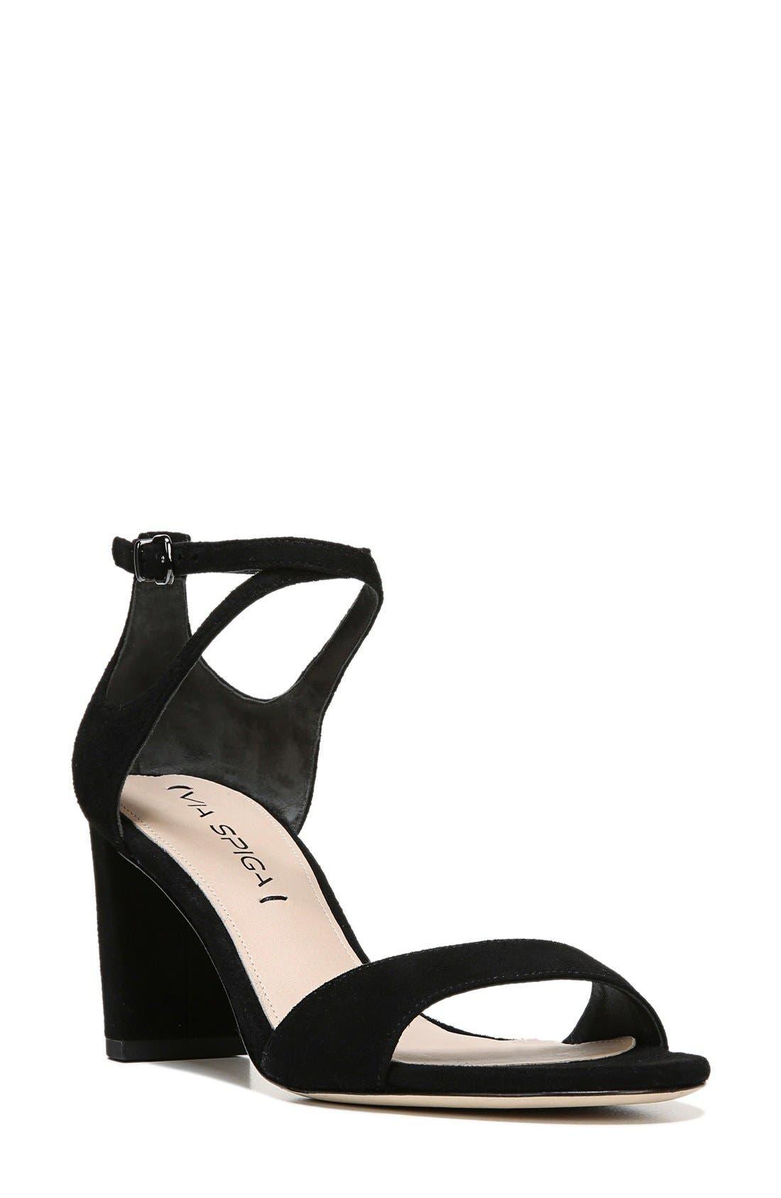 Wendi Ankle Strap Sandal,                         Main,                         color, 001
