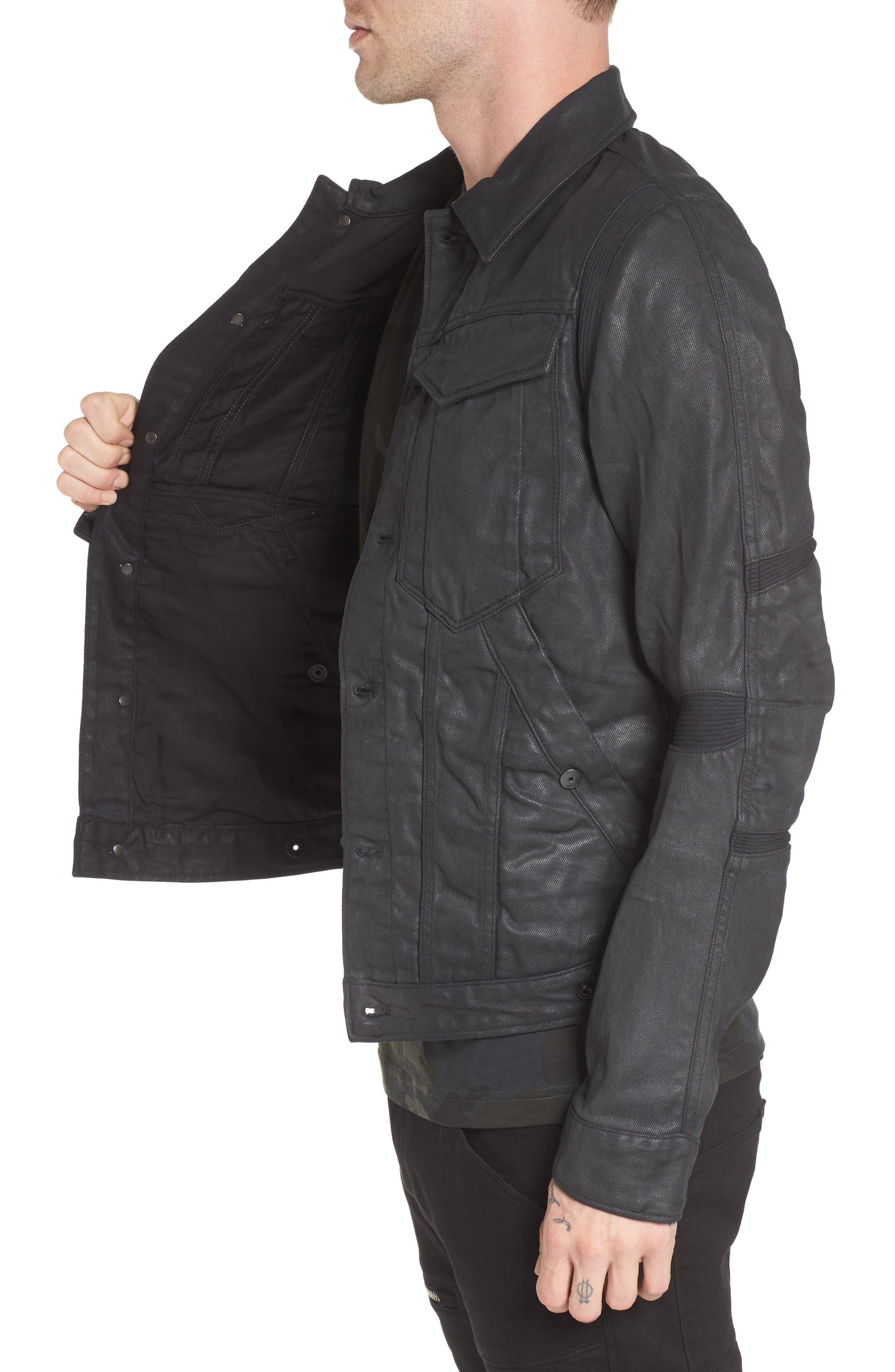 Motac 3D Slim Denim Jacket,                             Alternate thumbnail 3, color,                             001