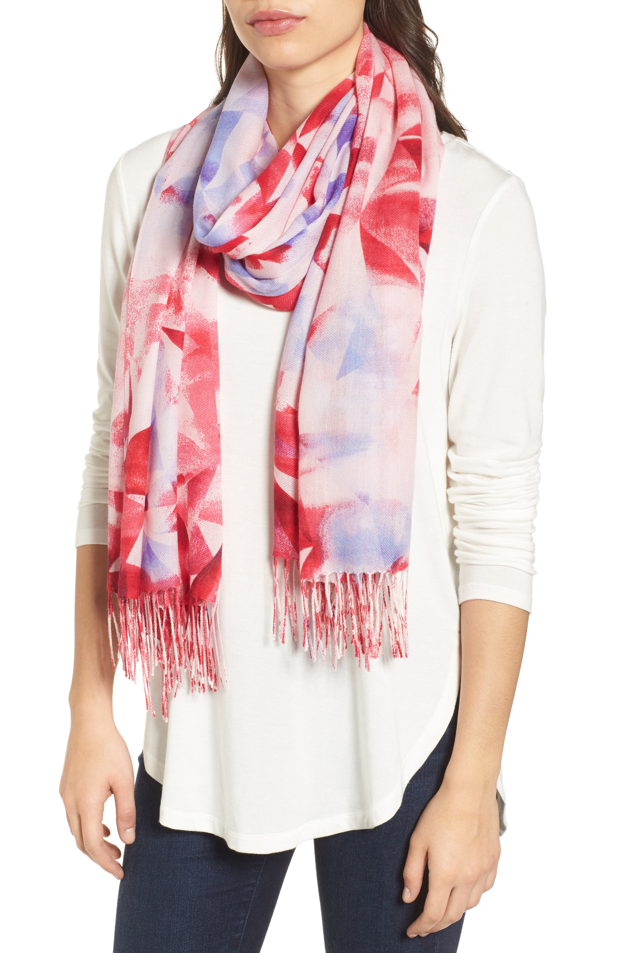 Tissue Print Wool & Cashmere Wrap Scarf,                             Main thumbnail 31, color,