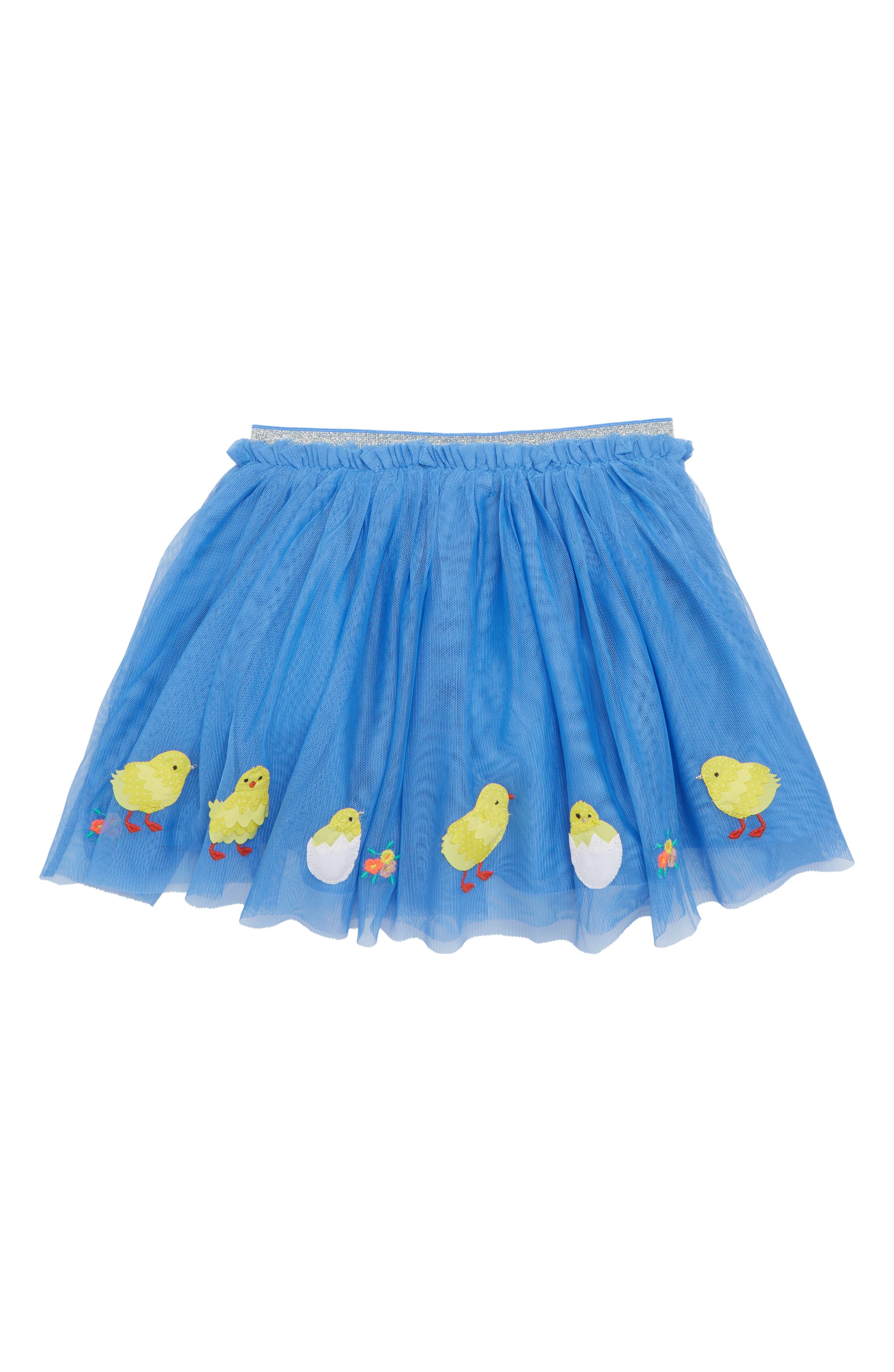 Easter Appliqué Tulle Skirt,                             Main thumbnail 1, color,