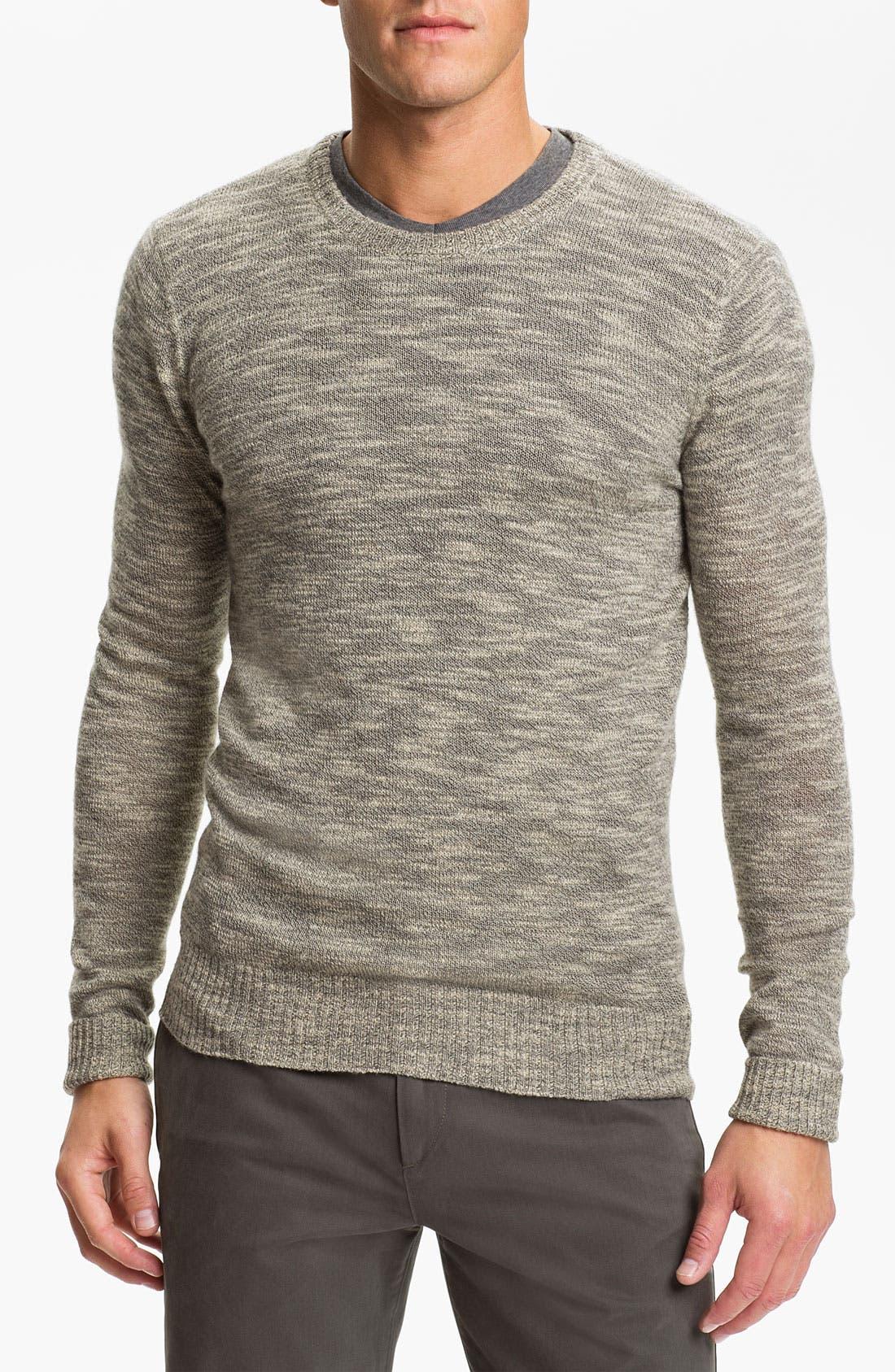 Crewneck Silk Blend Sweater,                             Main thumbnail 1, color,