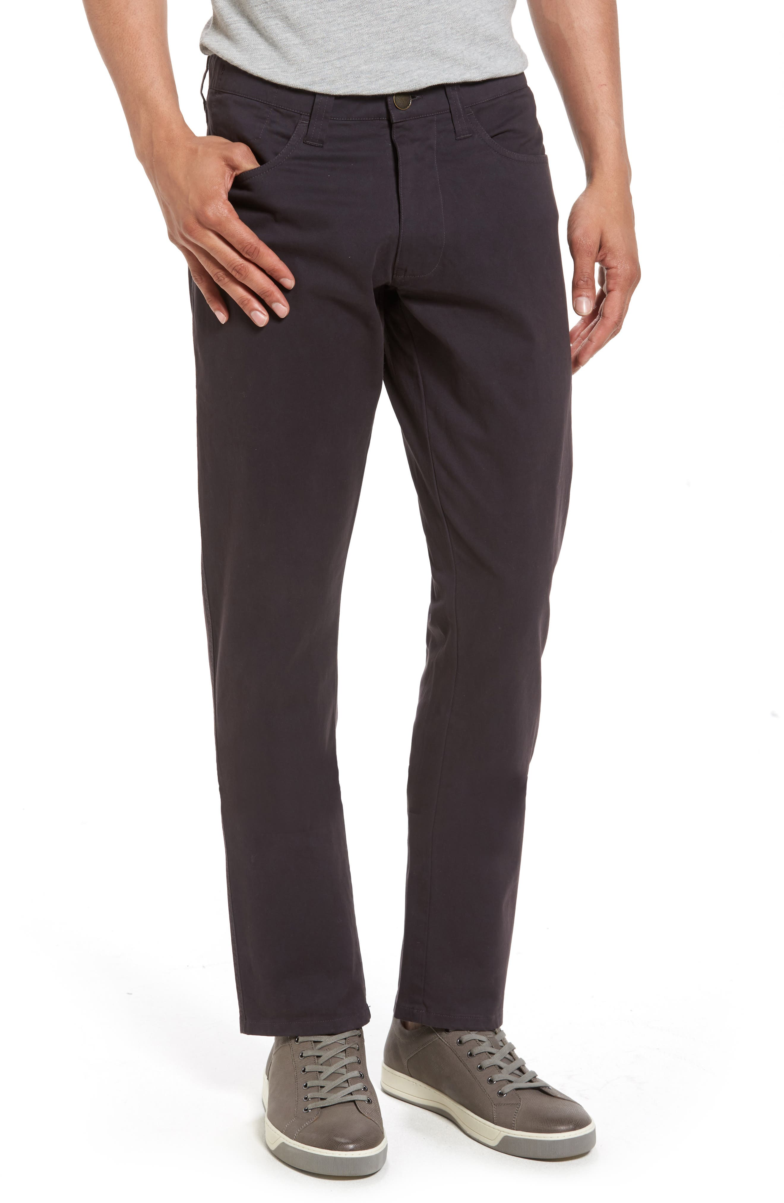 'Sunny' Slim Fit Stretch Twill Pants,                         Main,                         color, NINE IRON
