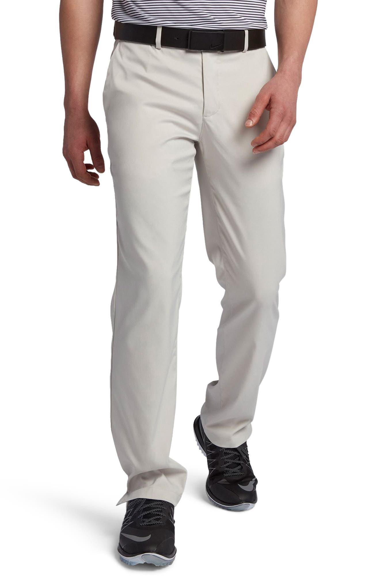 Flat Front Dri-FIT Tech Golf Pants,                             Main thumbnail 1, color,                             LIGHT BONE/ LIGHT BONE