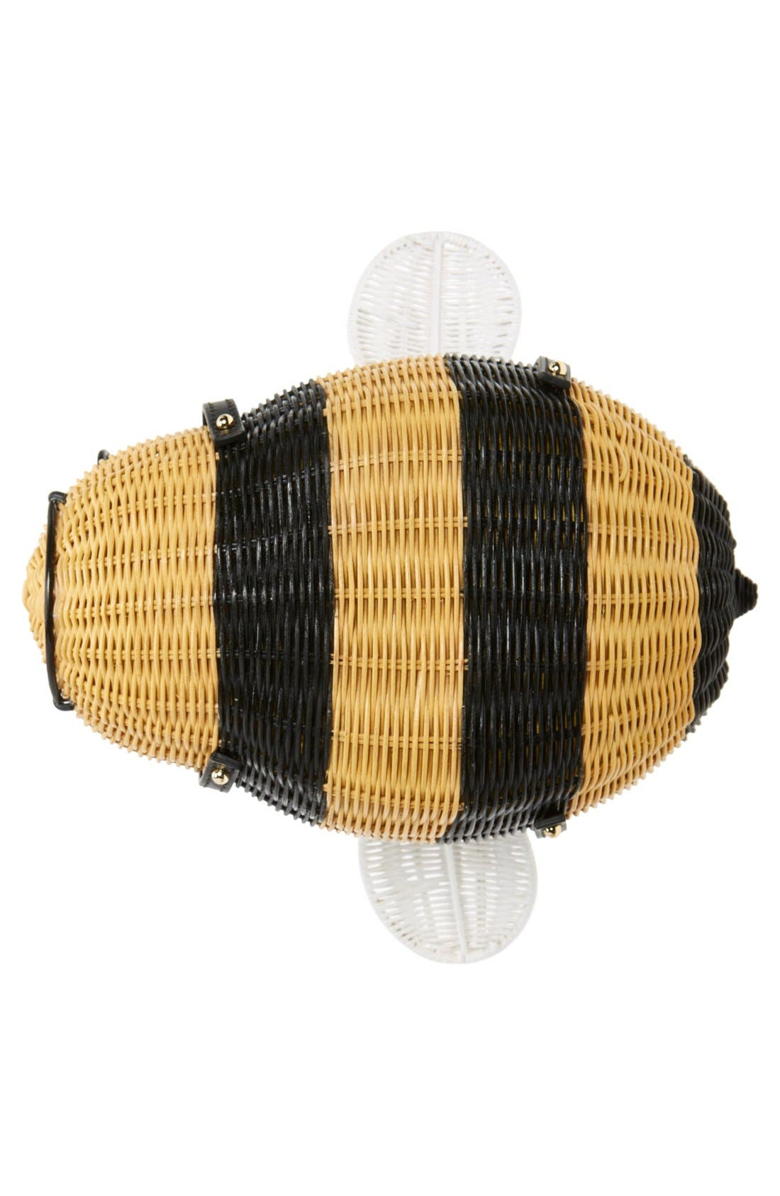 'bee' wicker handbag,                             Alternate thumbnail 5, color,                             250