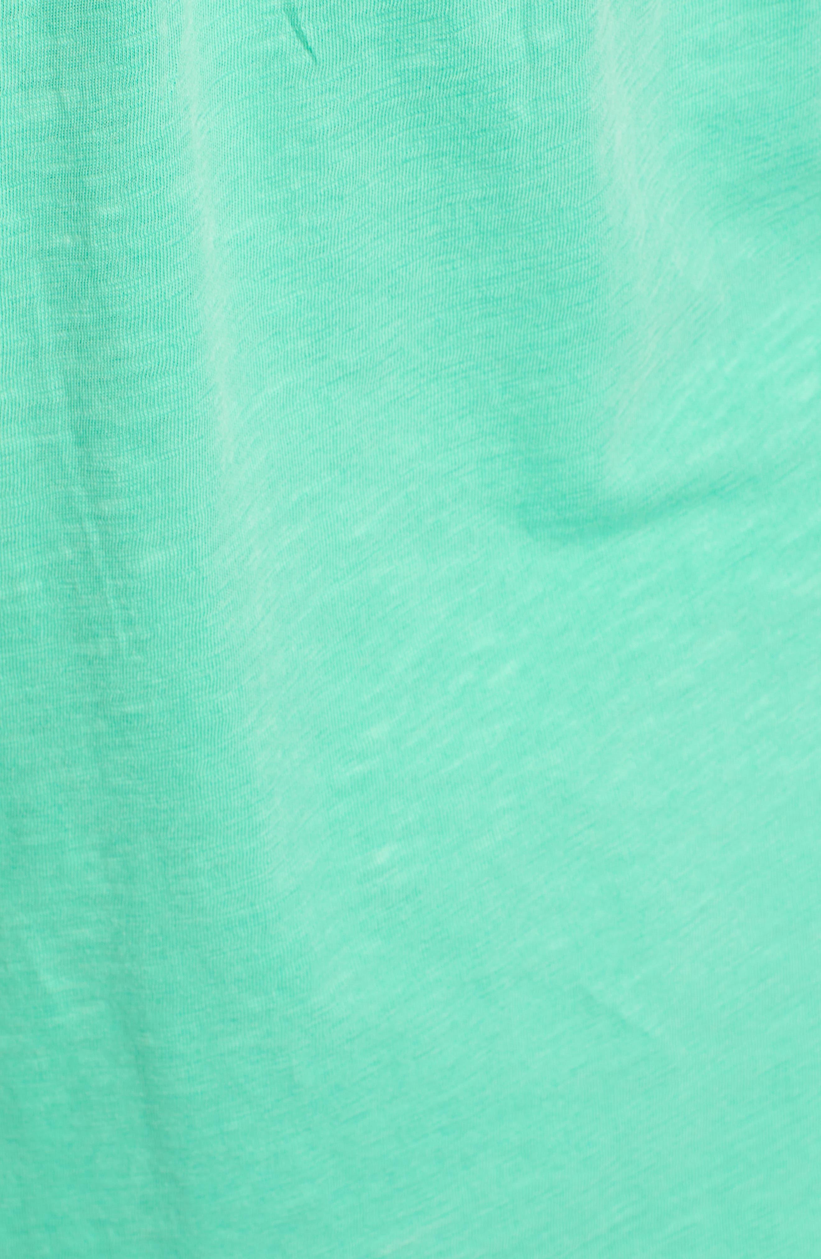 Button Down Knit Tunic,                             Alternate thumbnail 5, color,                             GREEN KATYDID