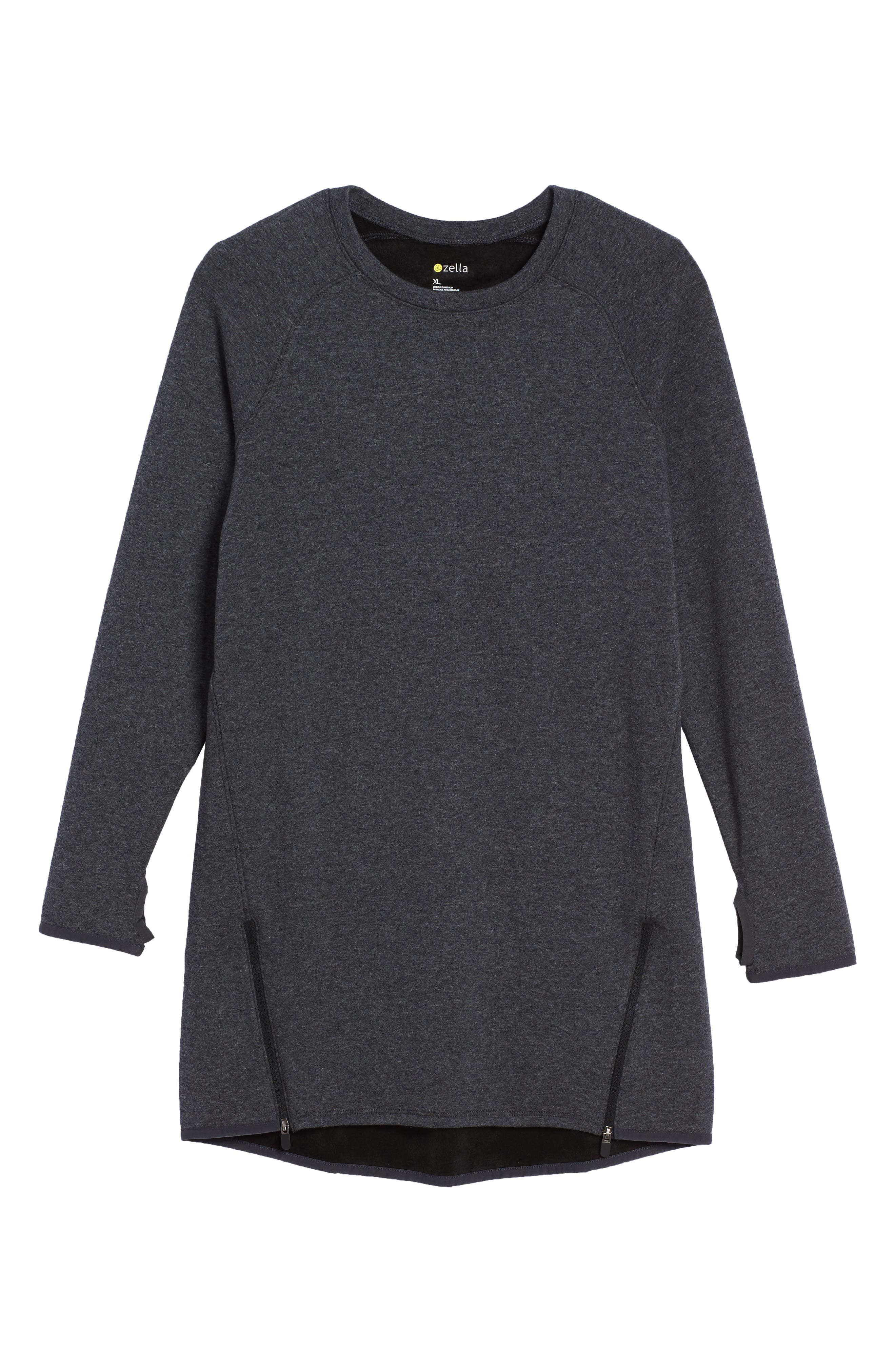 Zipper Sweatshirt Dress,                             Main thumbnail 1, color,
