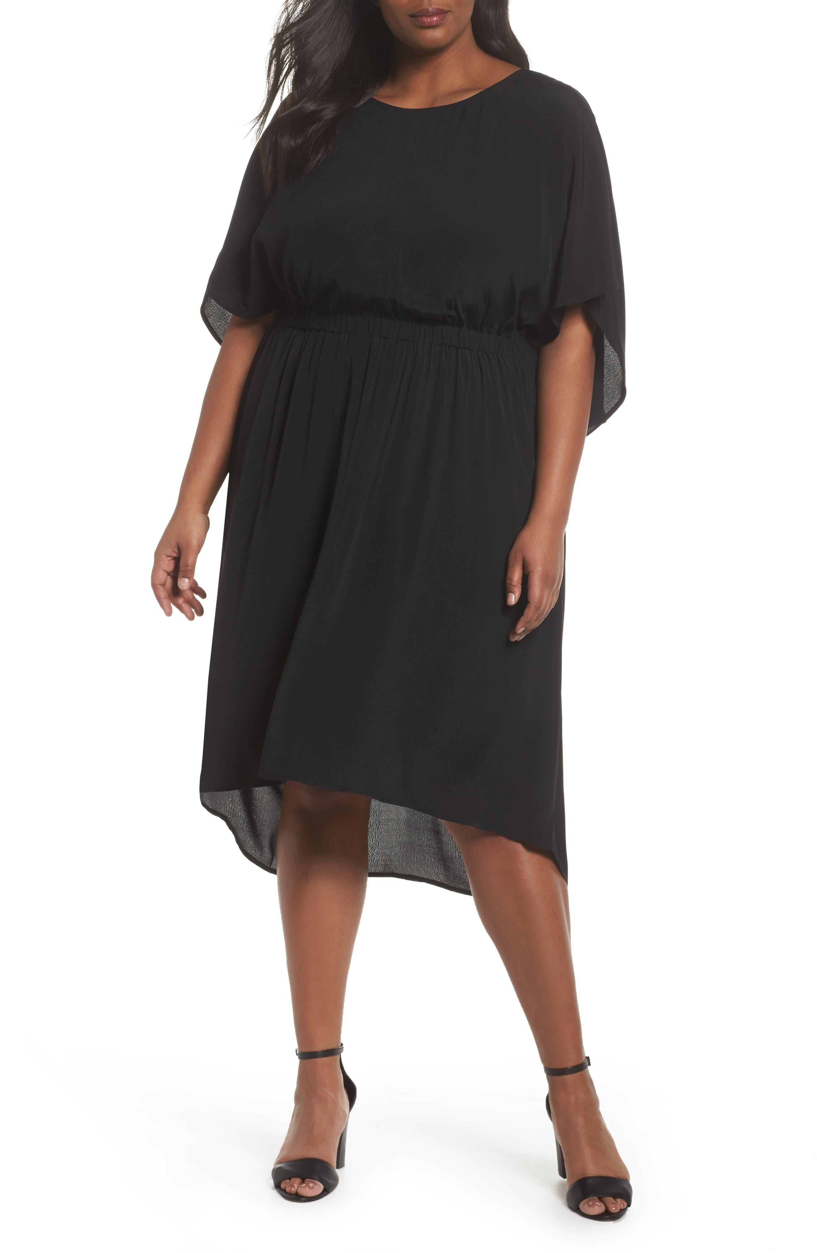 High/Low Caftan Dress,                             Main thumbnail 1, color,                             001