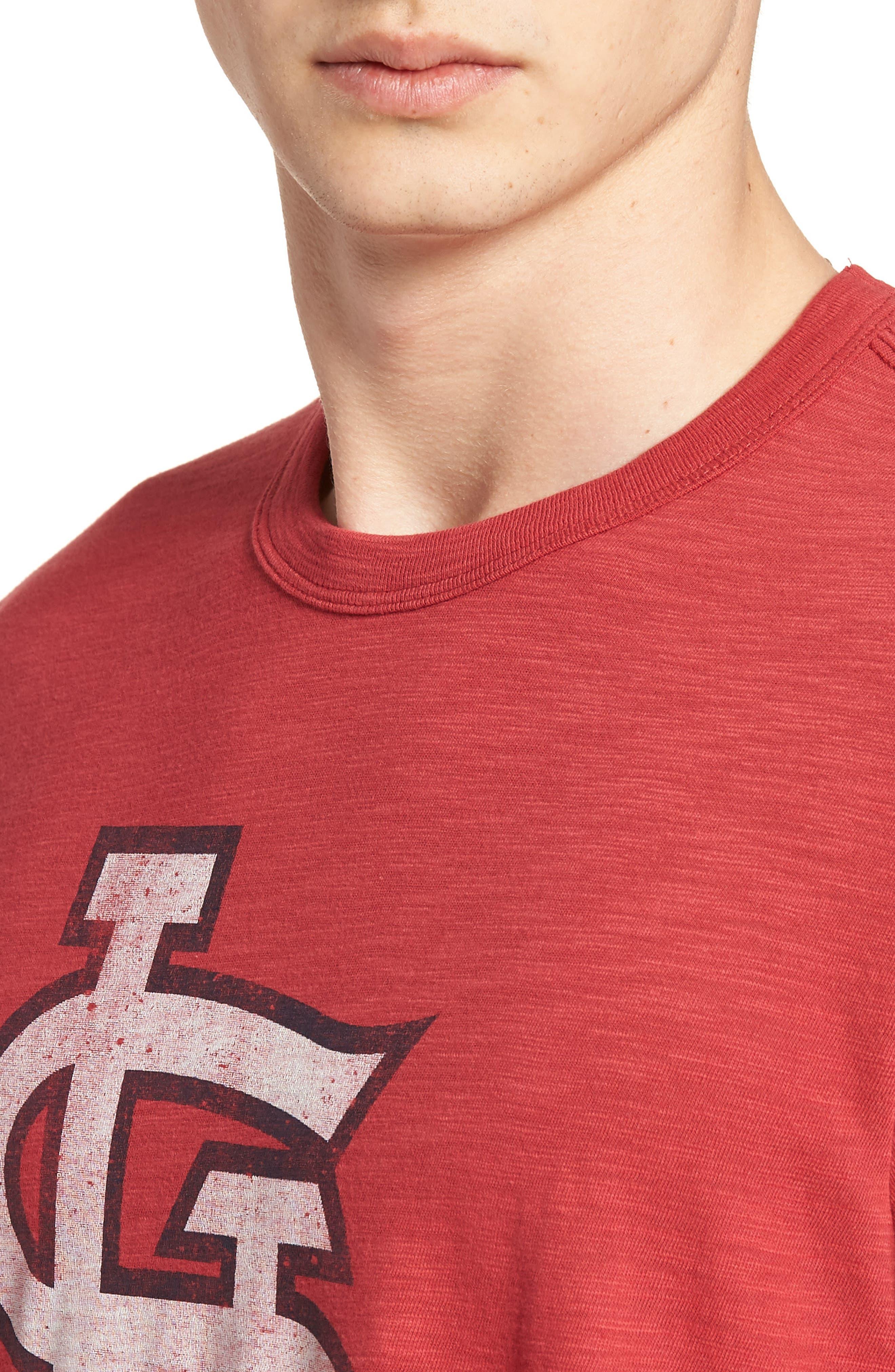 Grit Scrum St. Louis Cardinals T-Shirt,                             Alternate thumbnail 4, color,                             RESCUE RED