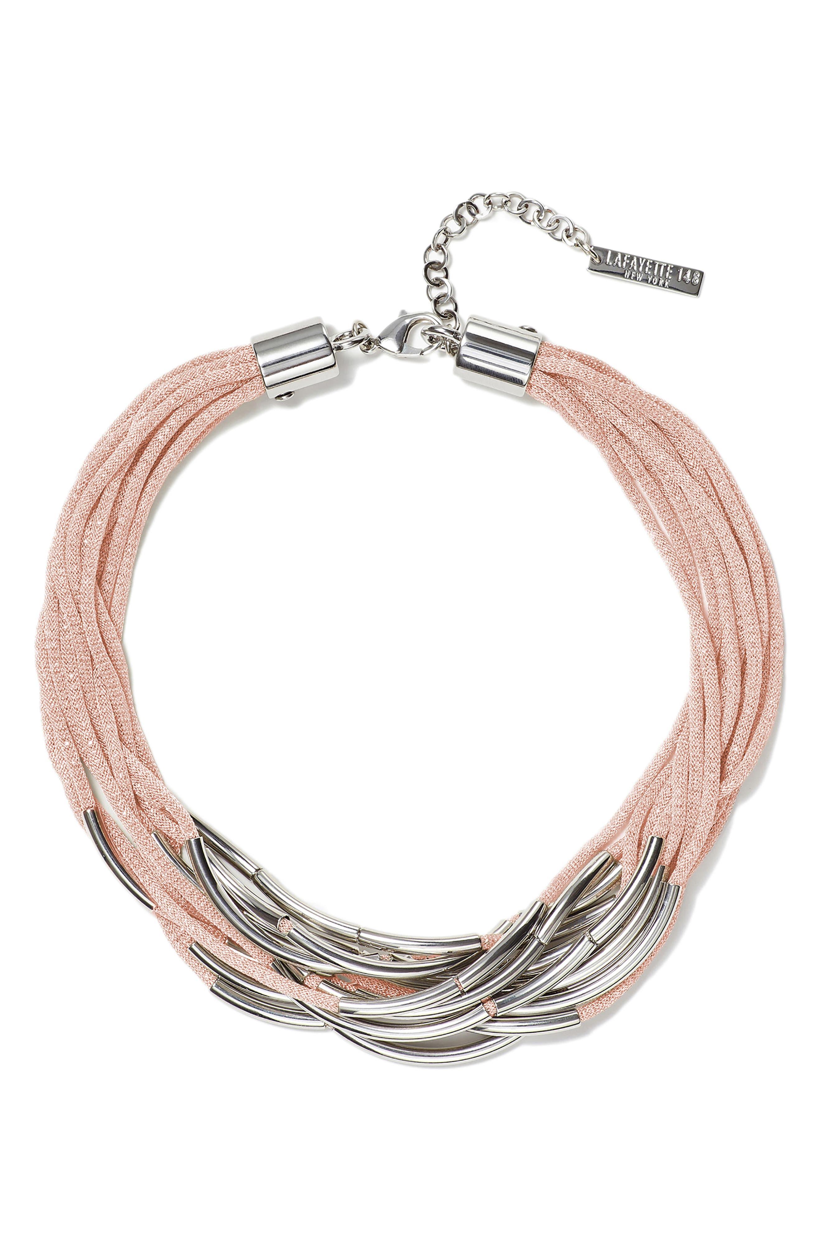 Multistrand Statement Necklace,                         Main,                         color, AURA