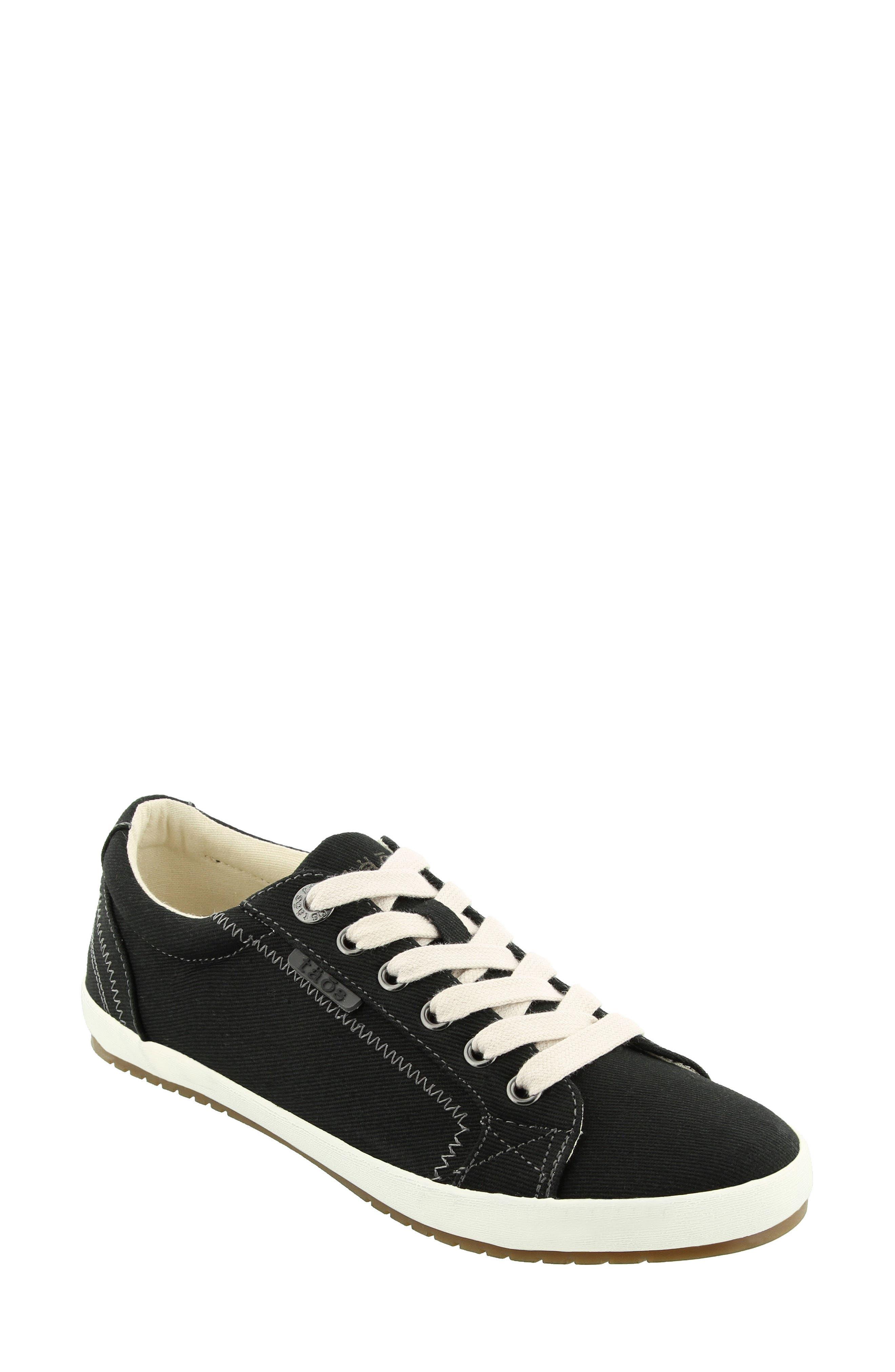 'Star' Sneaker,                             Main thumbnail 1, color,                             BLACK CANVAS