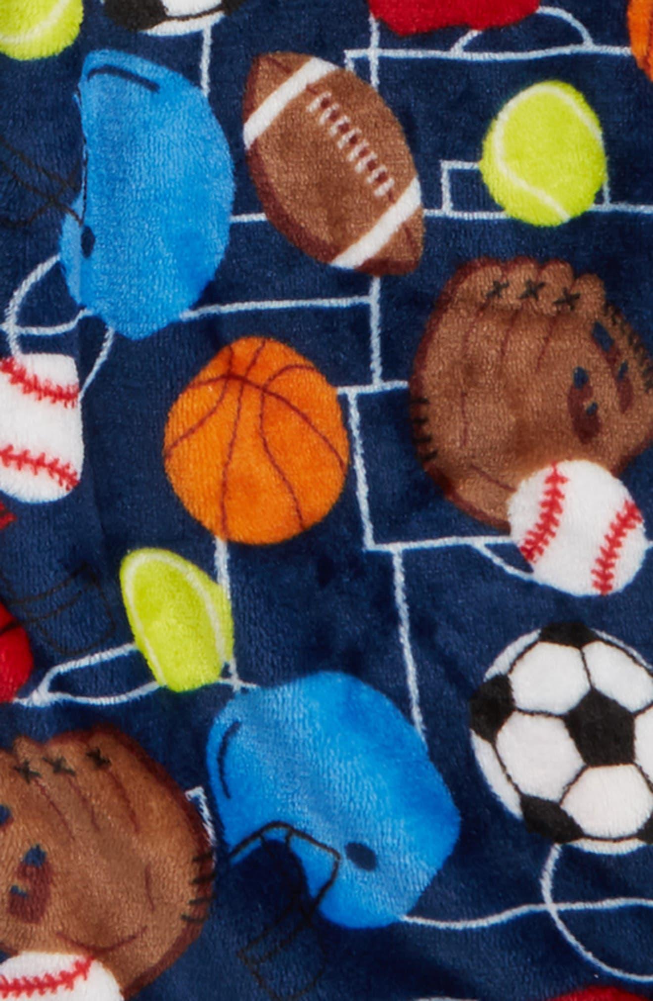 Sports Fleece Robe,                             Alternate thumbnail 2, color,                             NAVY