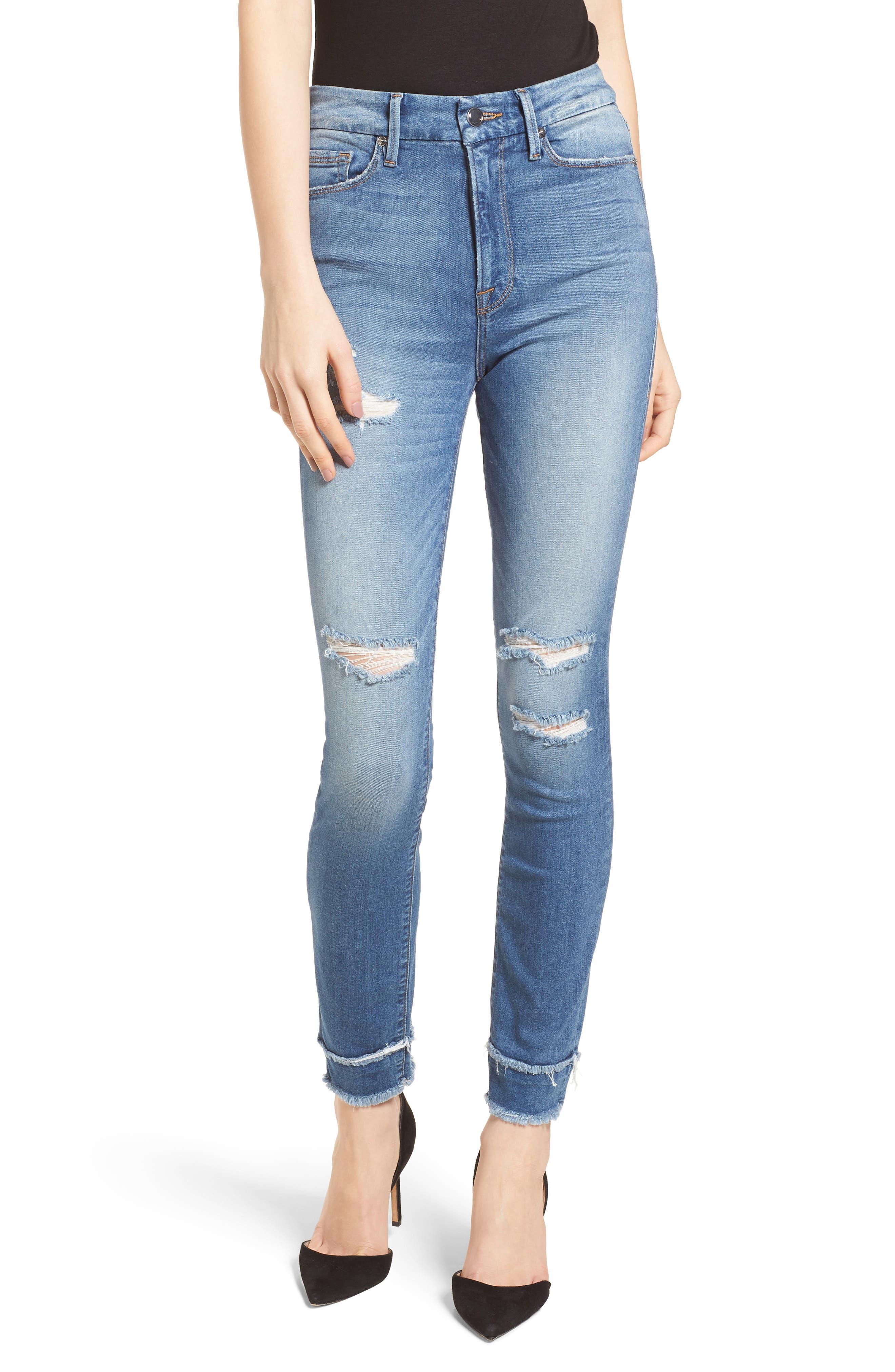 Good Waist High Waist Skinny Jeans,                         Main,                         color, 401