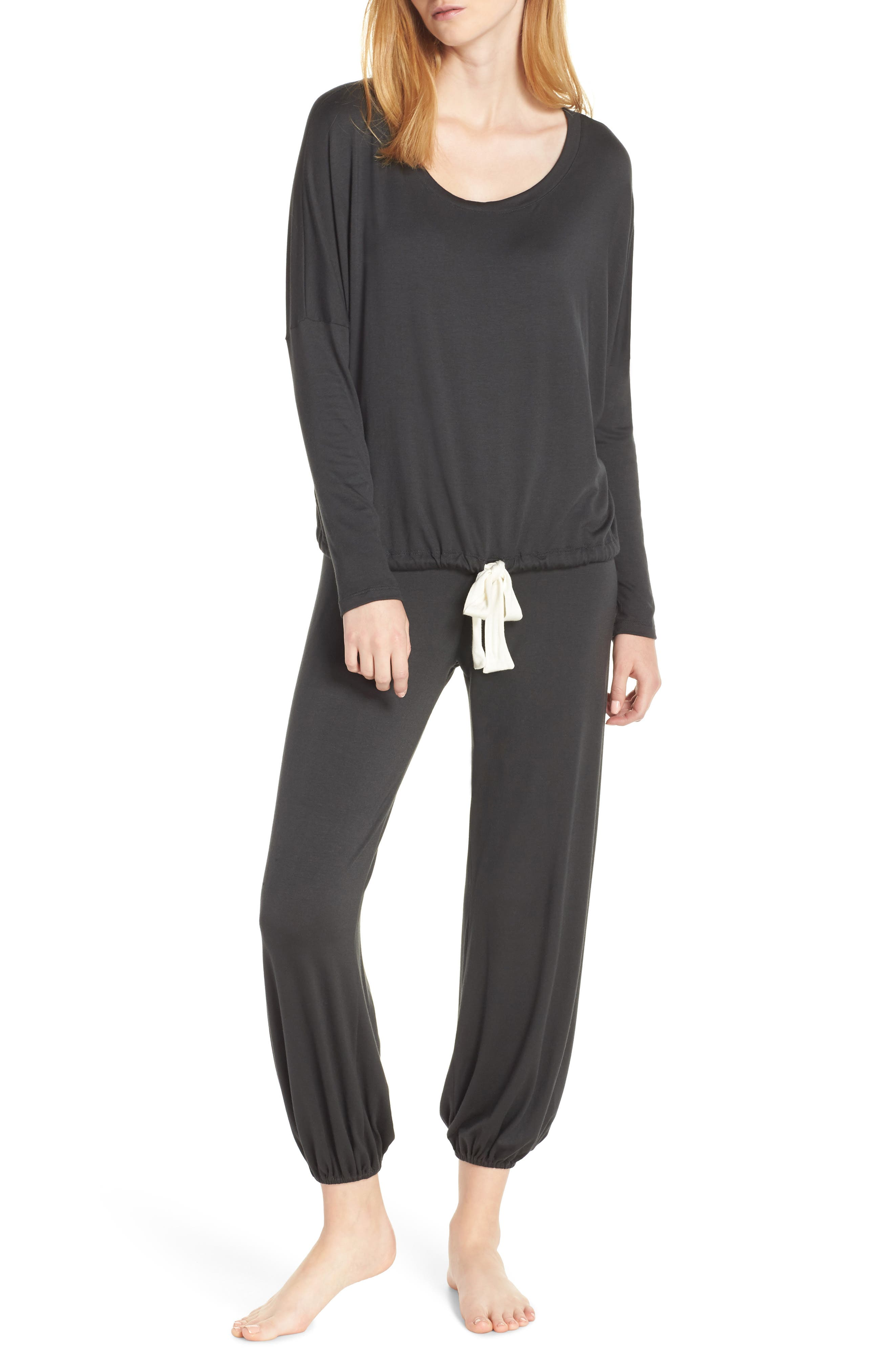Heather Slouchy Pajamas,                             Main thumbnail 1, color,                             077