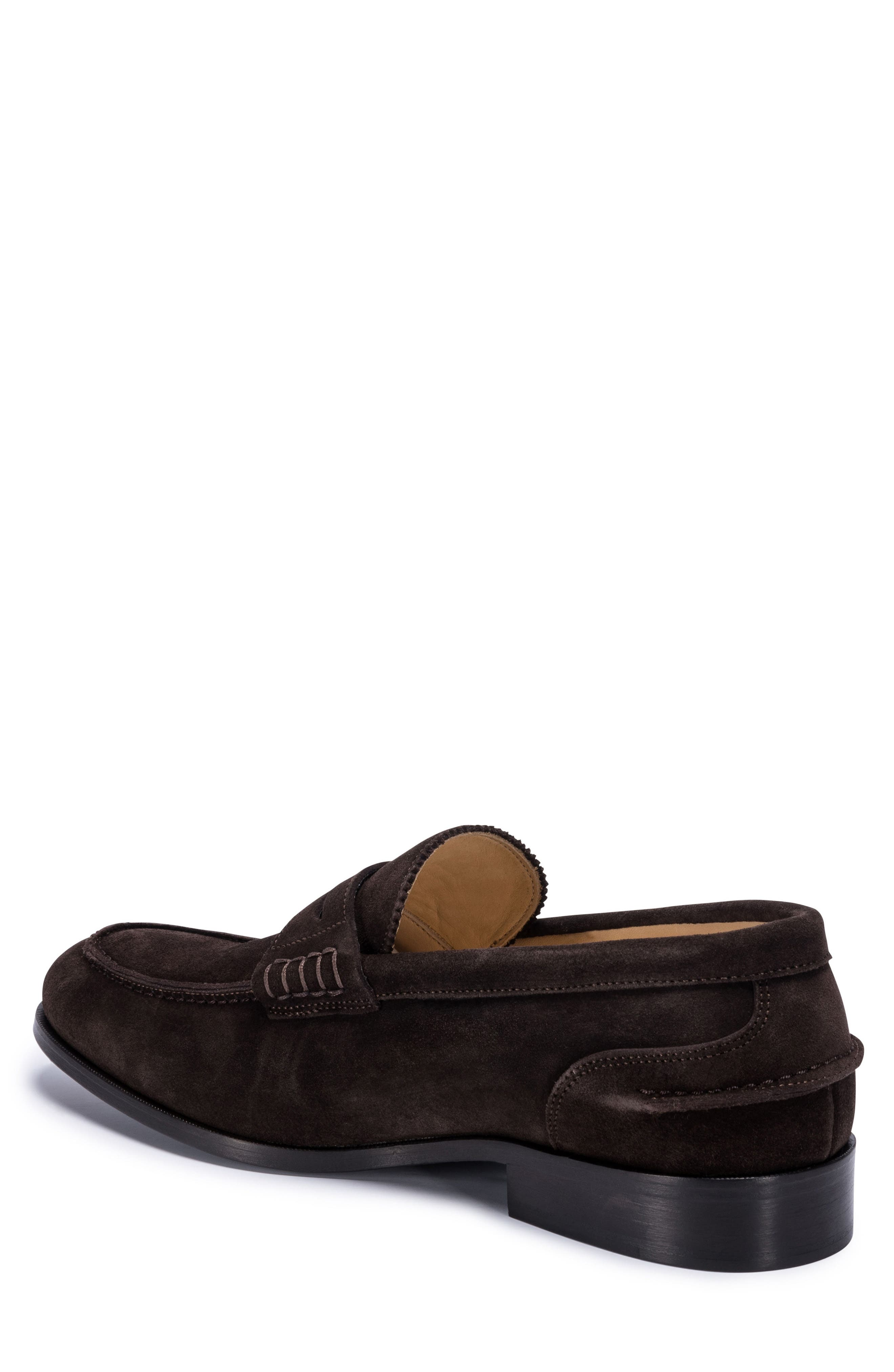 Torino Penny Loafer,                             Alternate thumbnail 2, color,                             BROWN SUEDE