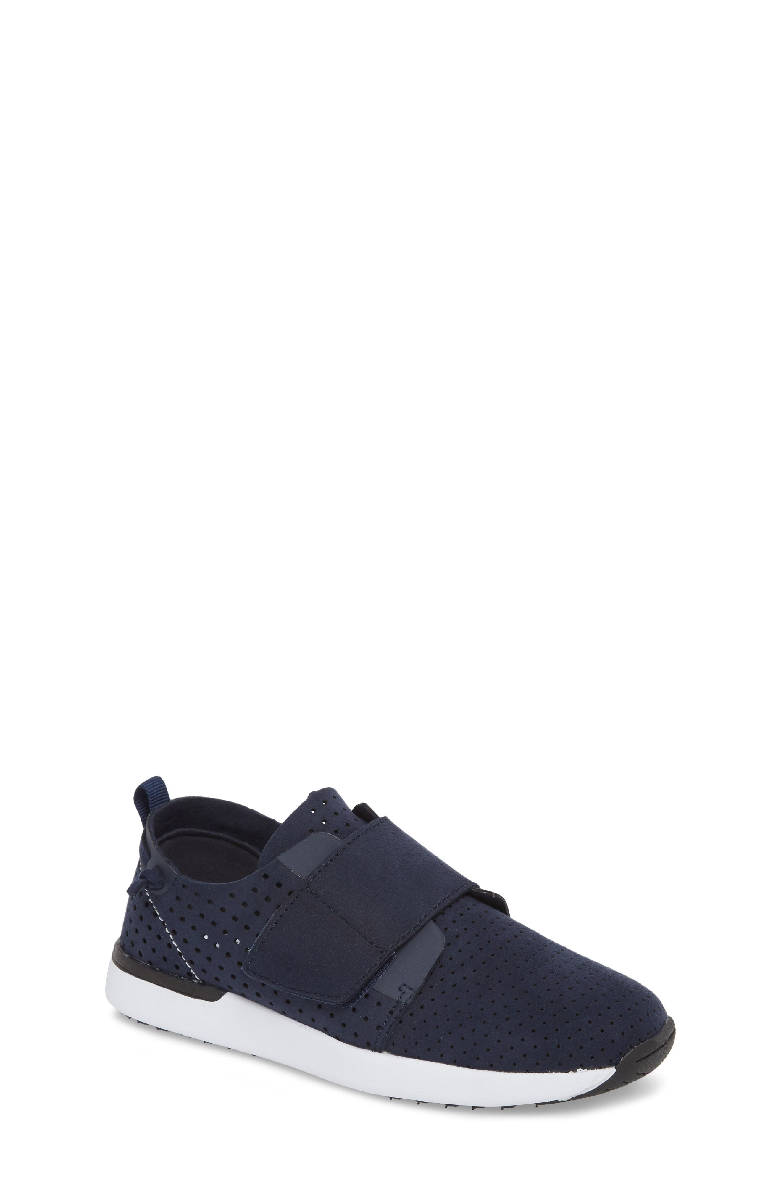 Brixxnv Perforated Sneaker,                             Main thumbnail 1, color,                             NAVY