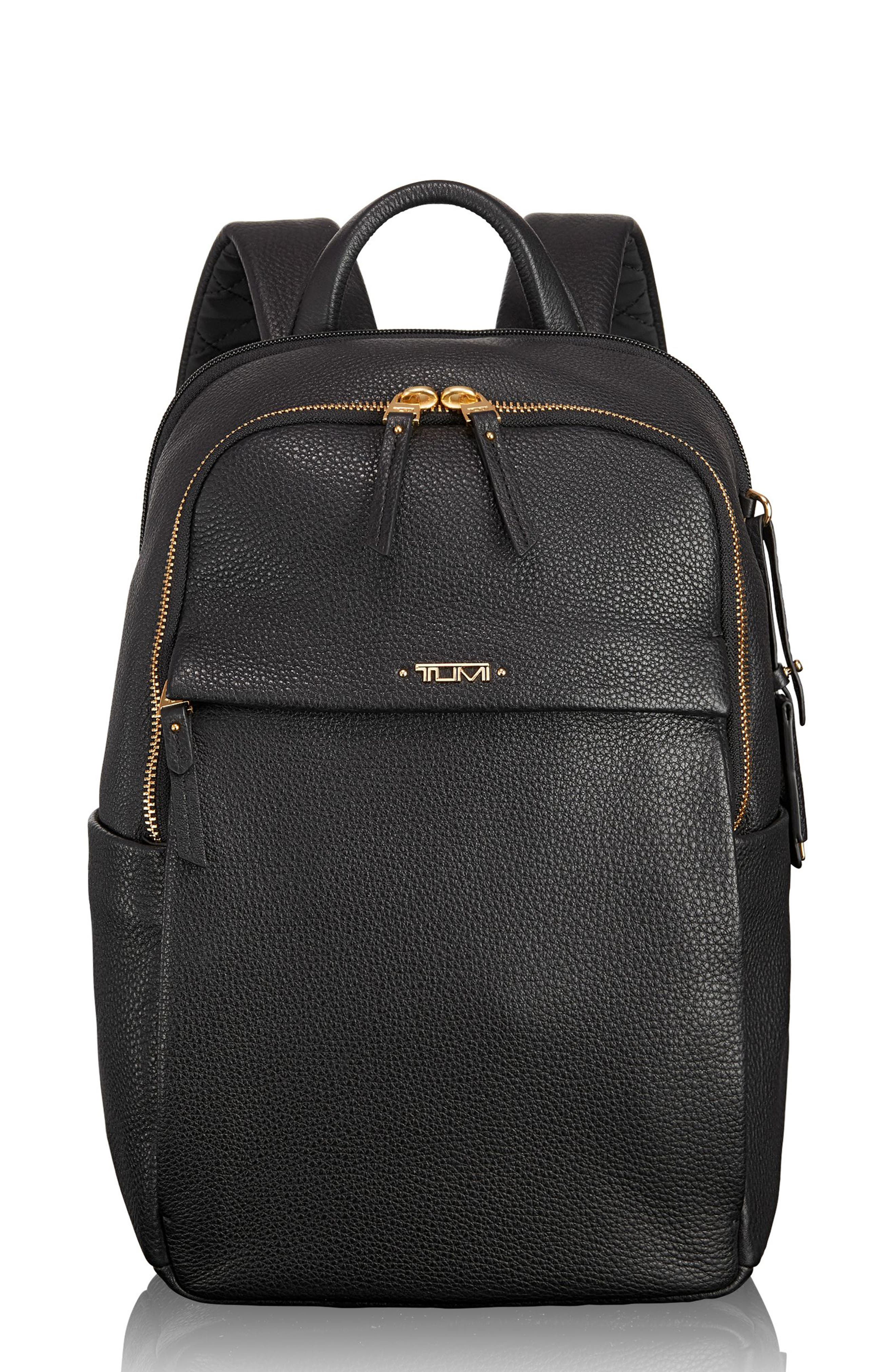 Voyageur - Small Daniella Leather Backpack,                         Main,                         color, 001