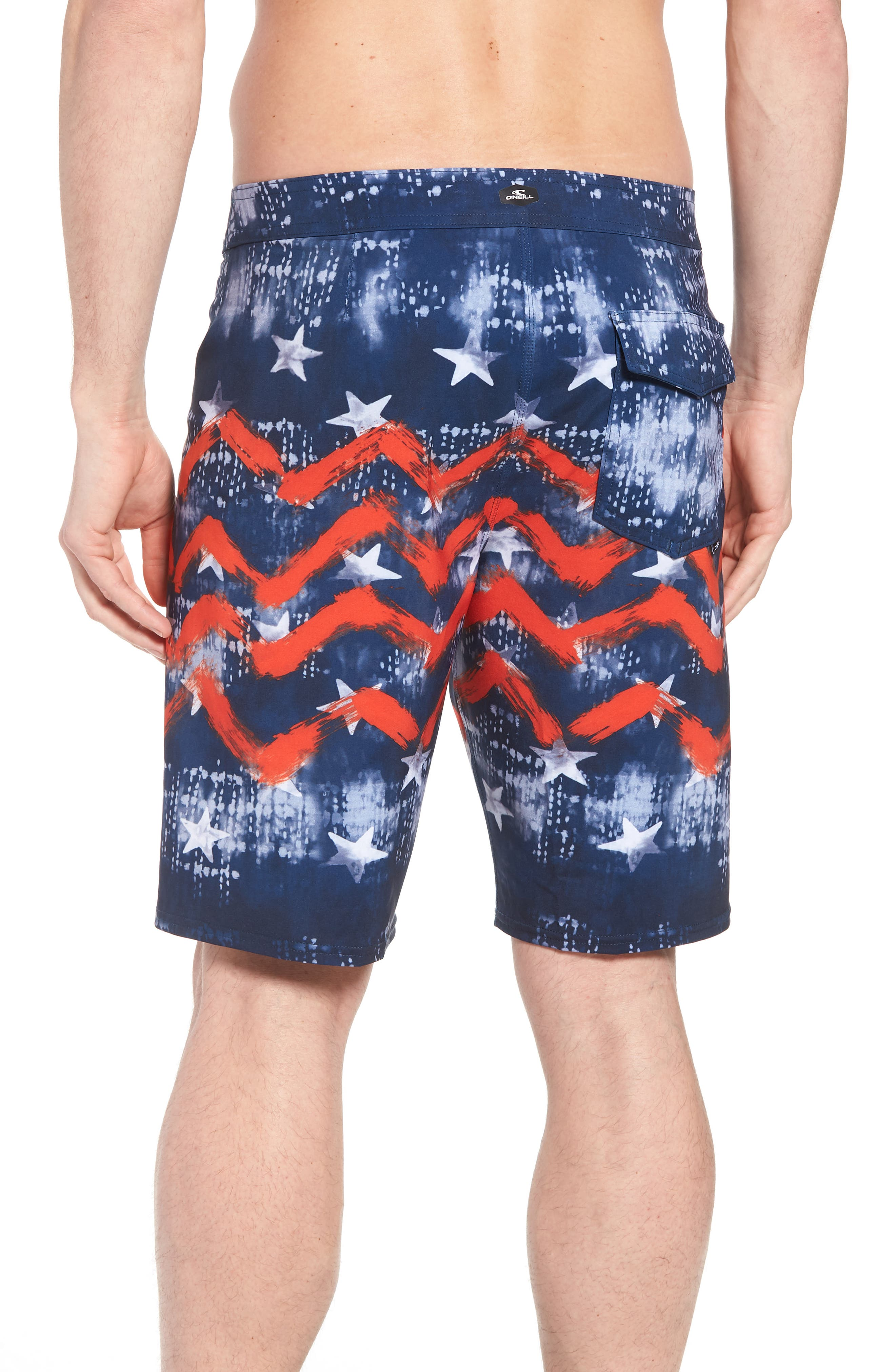 Hyperfreak Independence Board Shorts,                             Alternate thumbnail 4, color,