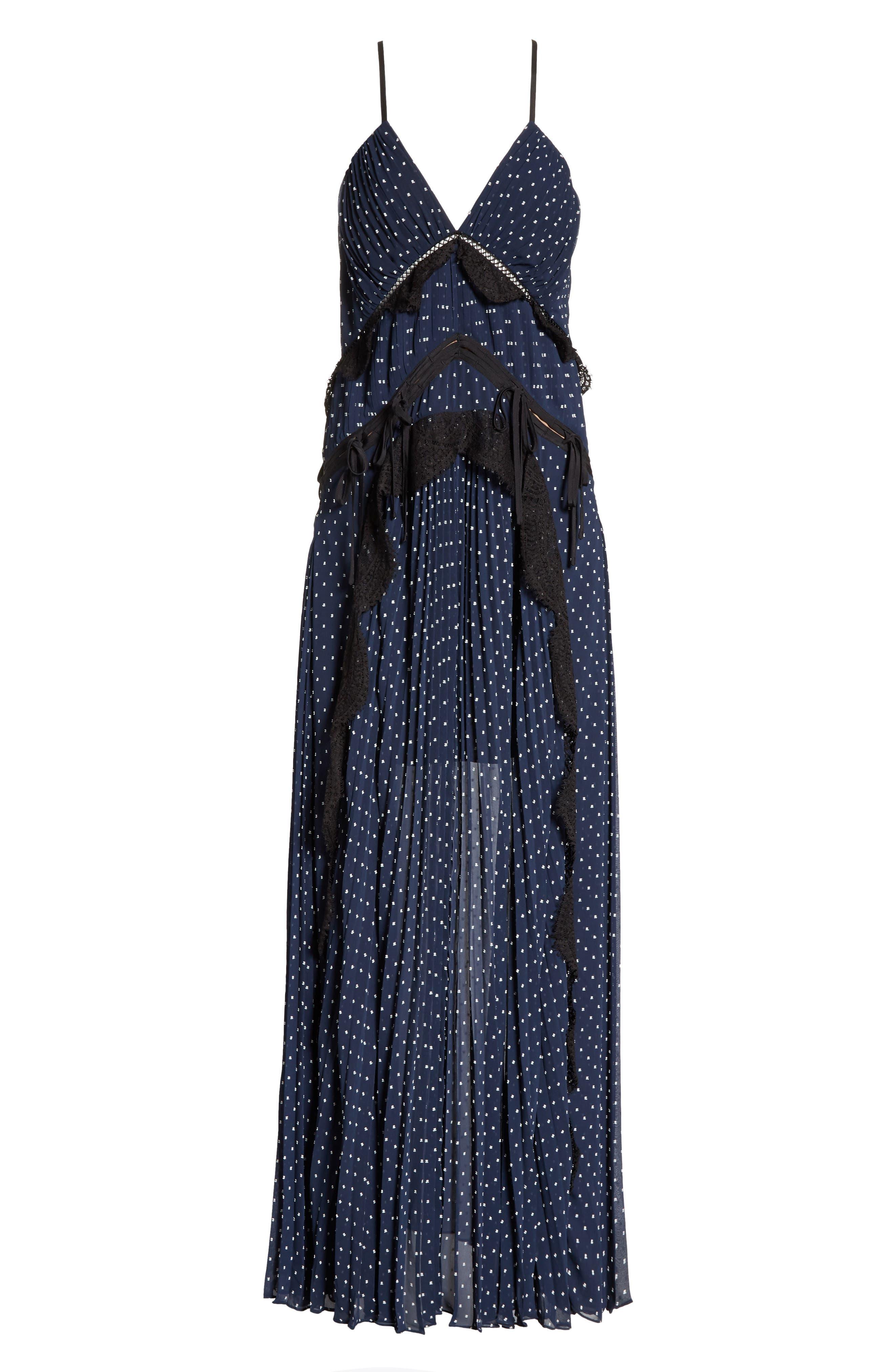 Plumetis Maxi Dress,                             Alternate thumbnail 6, color,                             400