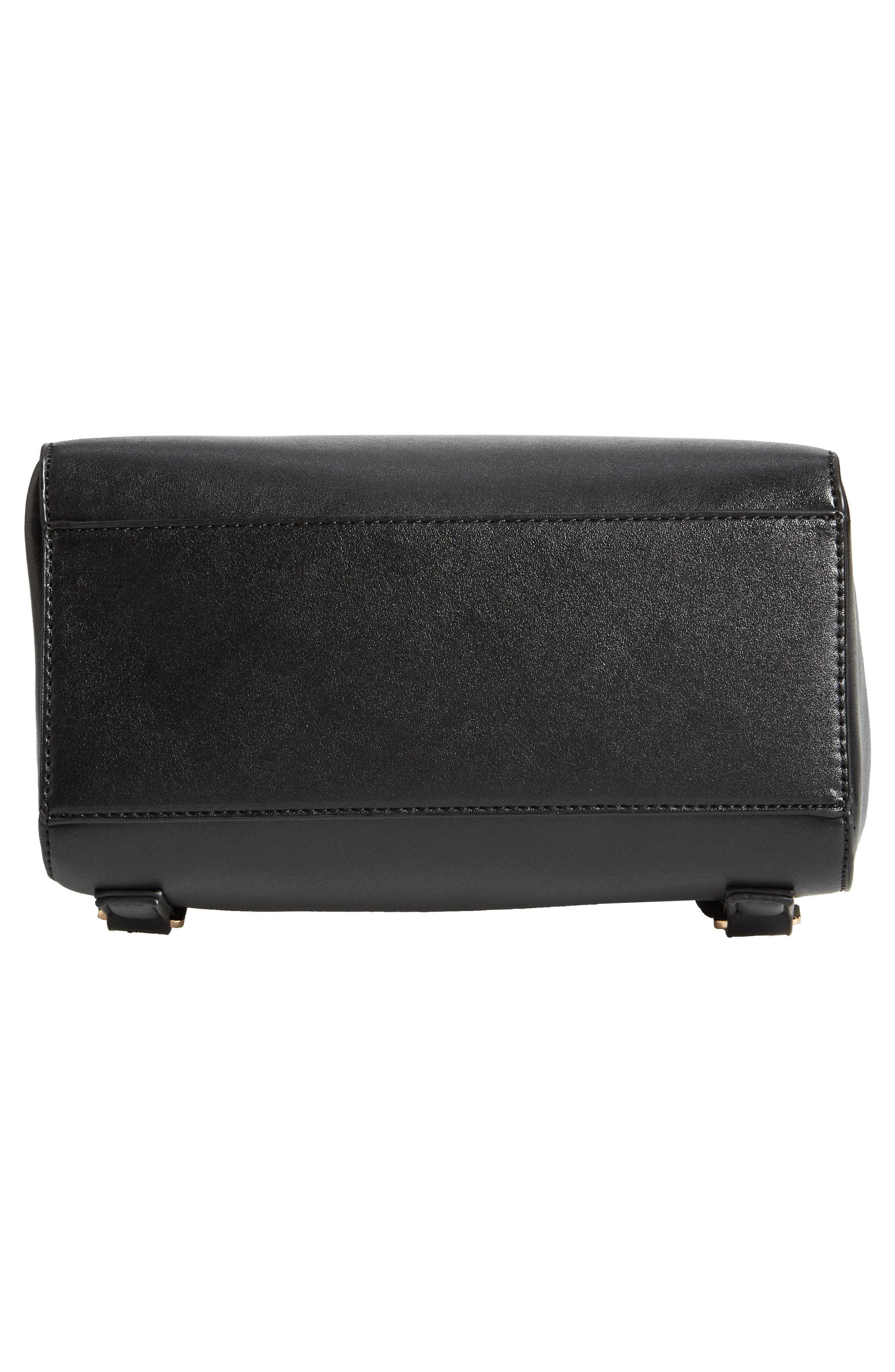 Mini Scandi Faux Leather Backpack,                             Alternate thumbnail 6, color,                             001