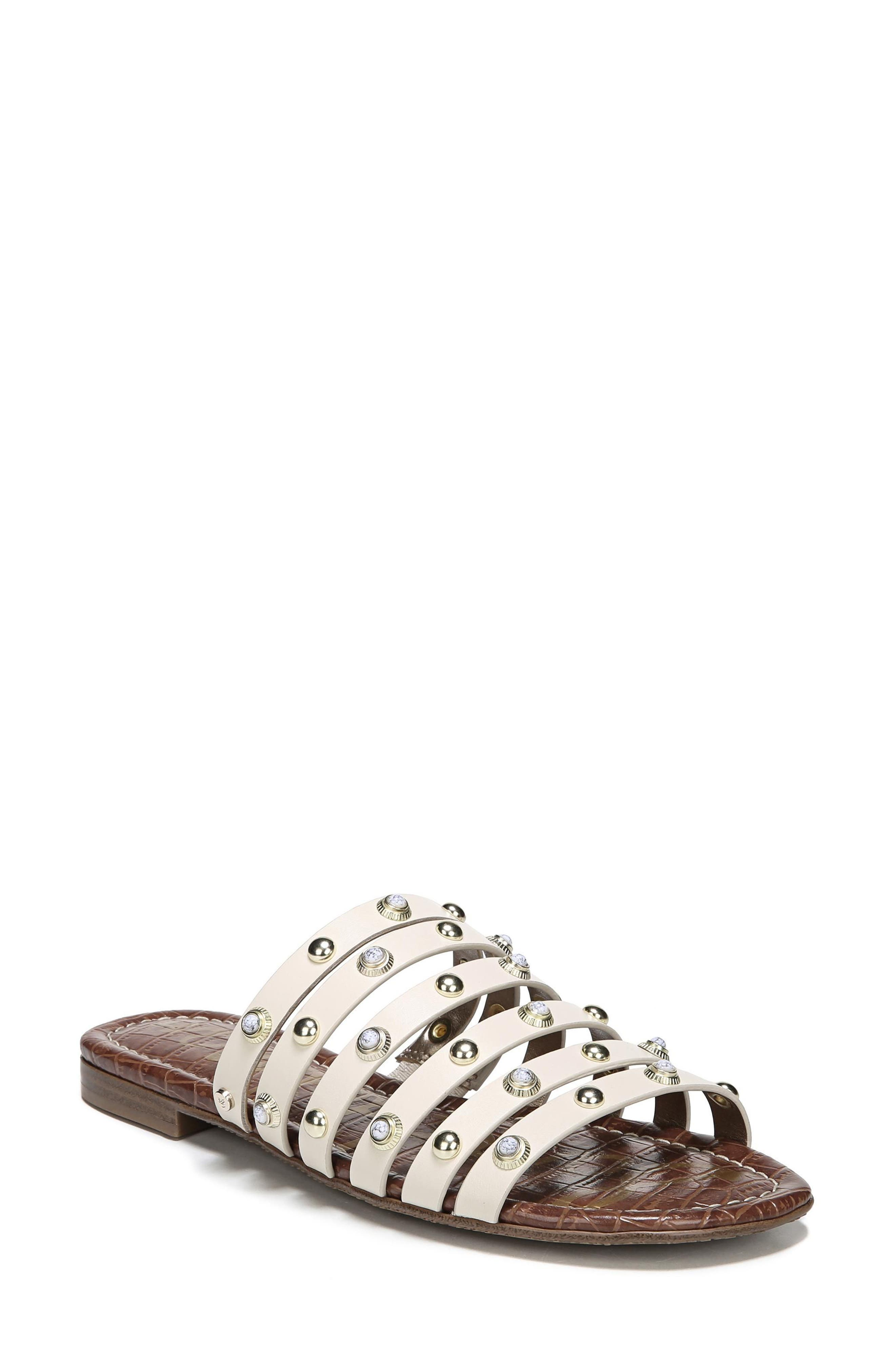 Brea Studded Slide Sandal,                             Main thumbnail 2, color,
