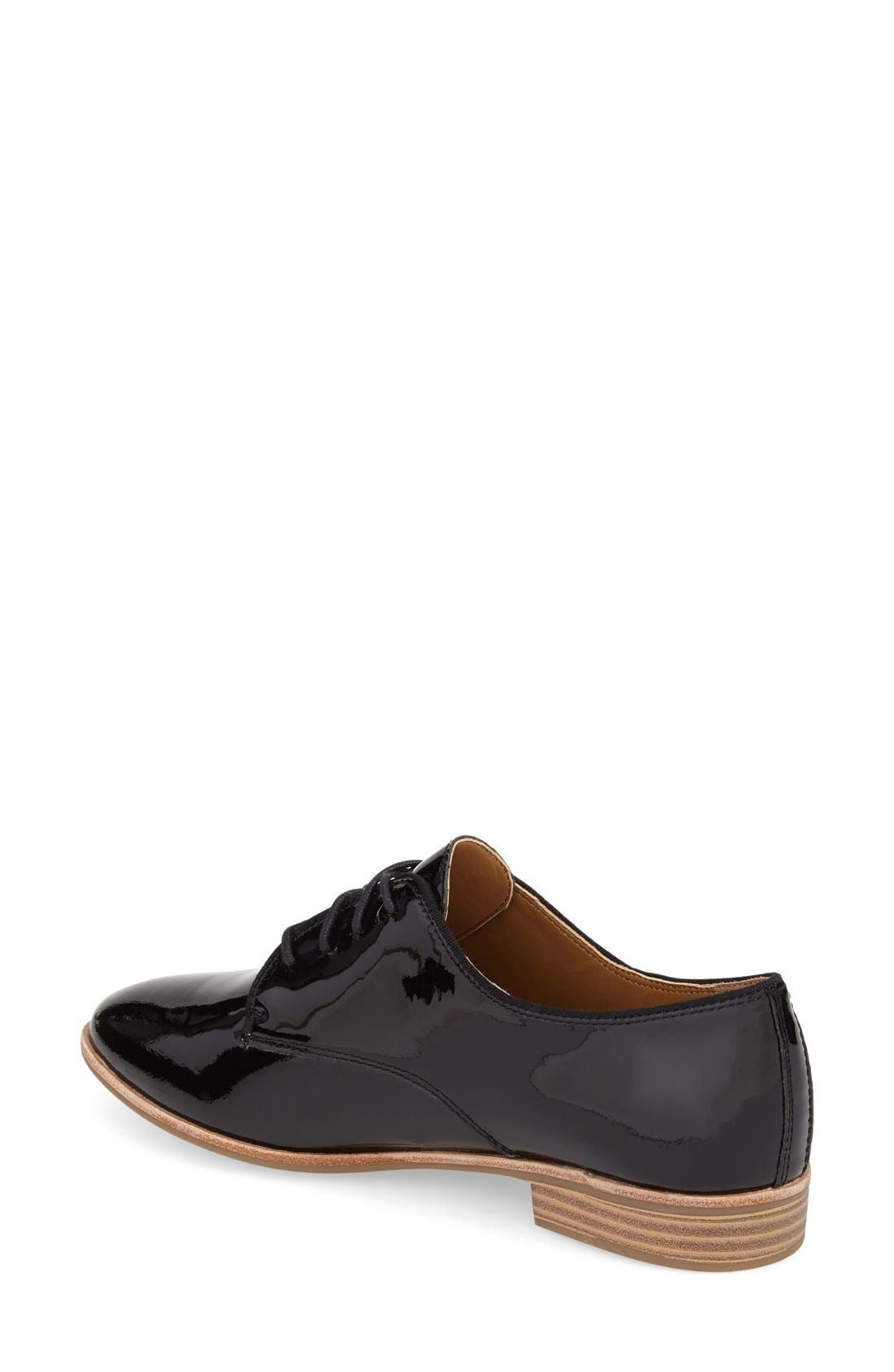 'Ella' Leather Oxford,                             Alternate thumbnail 2, color,                             001